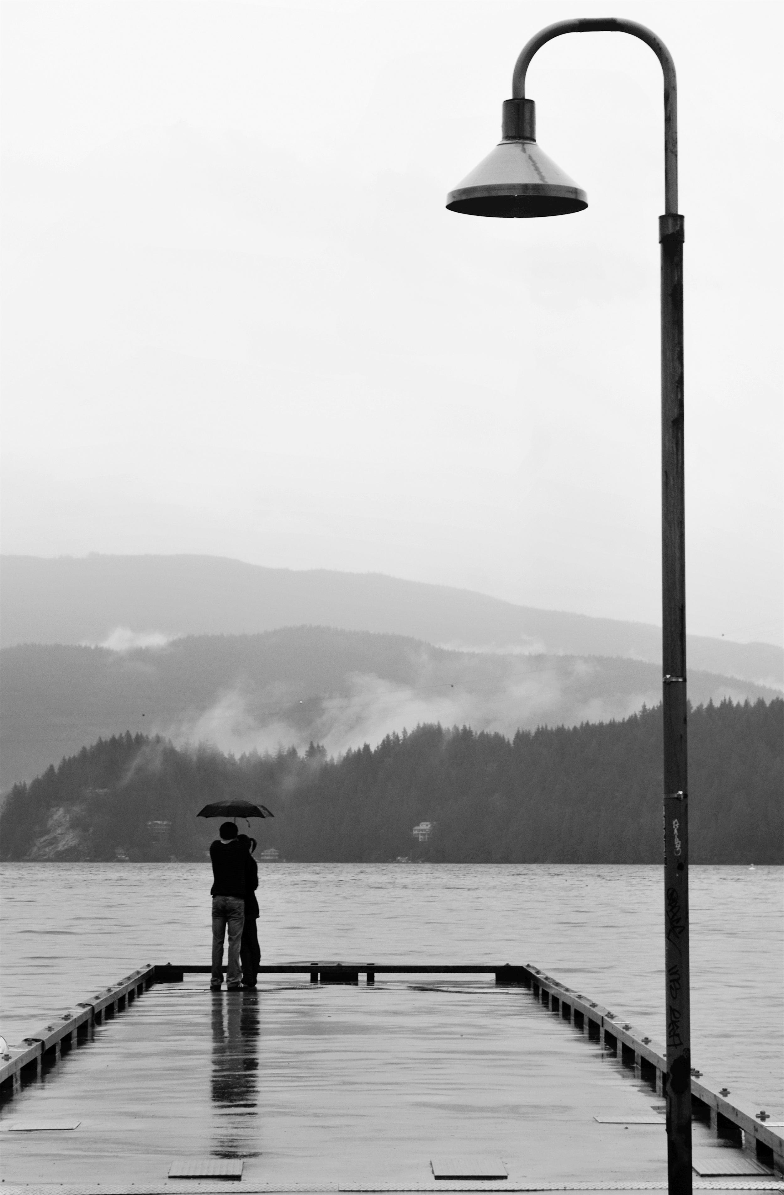 """Lovers in the Rain"" - Deep Cove, Canada"