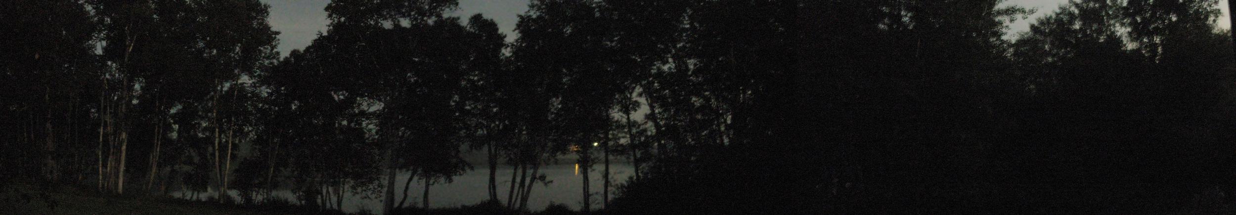 """Night River , Maine  15"""" x 44"""",2010"""