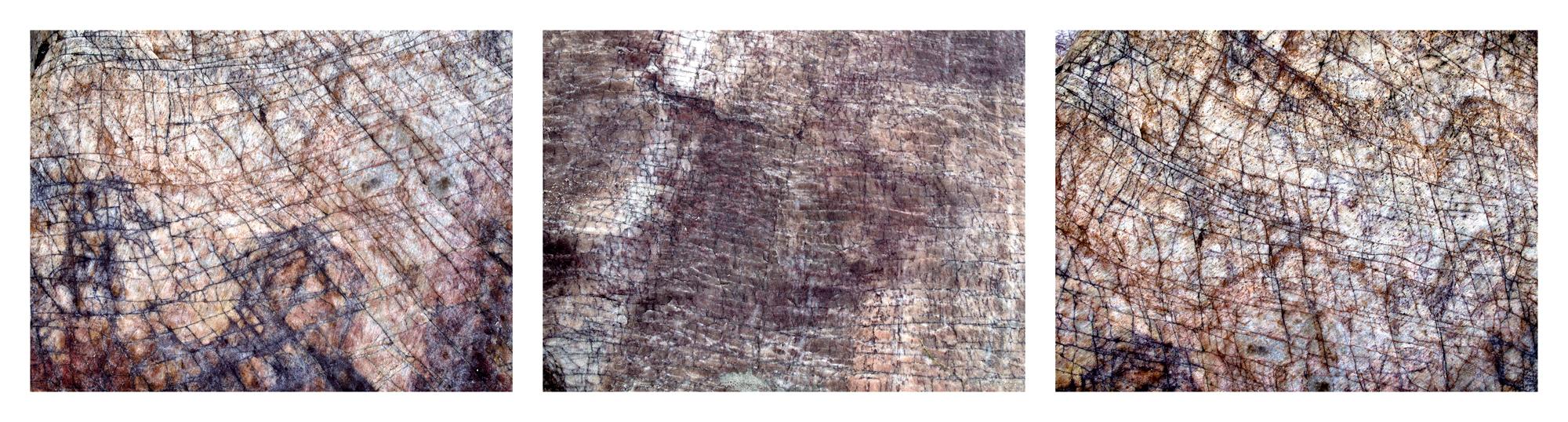 "Sea Writings III, Ceara Brazil  3 images, 15"" x 20"", 2015"