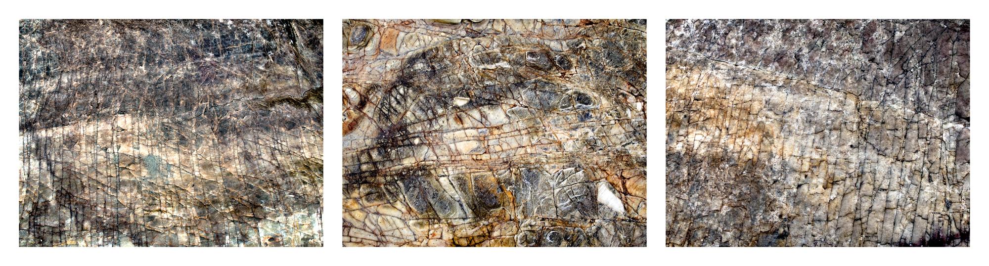 "Sea Writings VI, Ceara Brazil  3 images, 15"" x 20"", 2015"