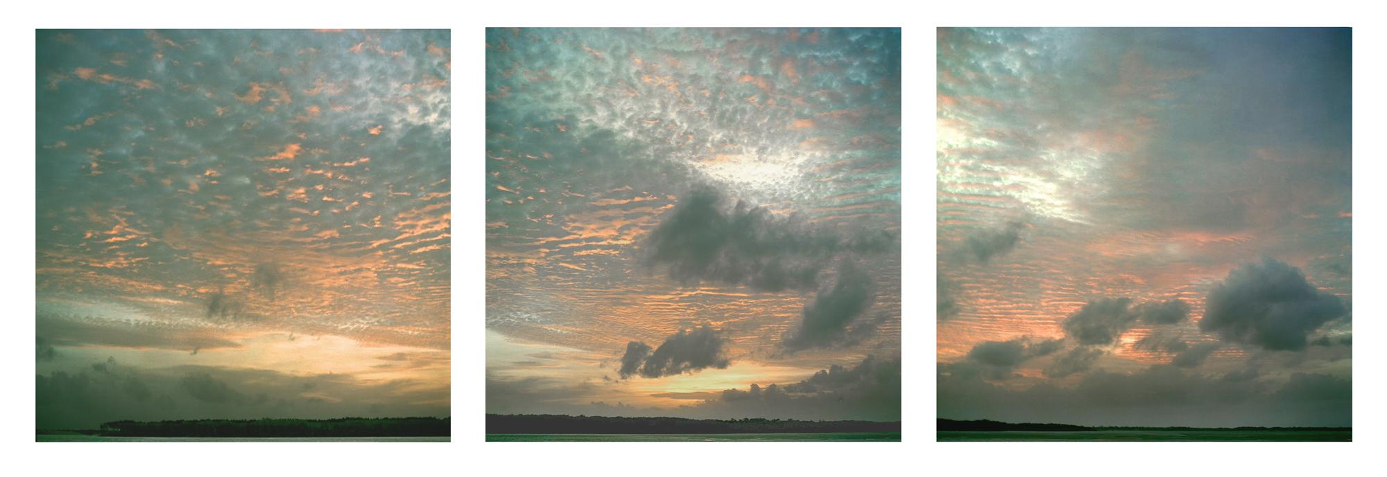 "Altins Sunrise , Brazil  3 images,30"" x 30"", 2007"