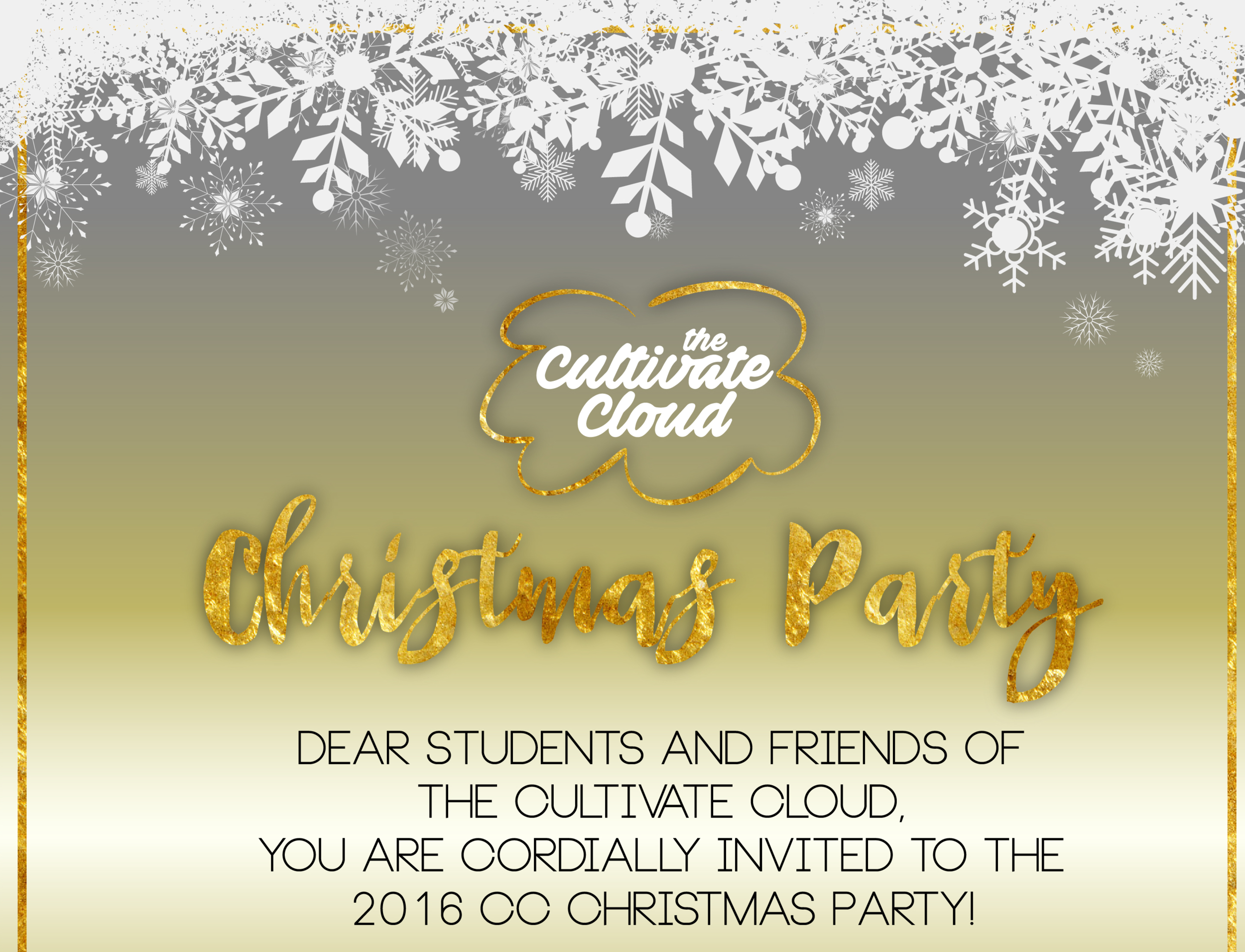 The Cultivate Cloud Christmas Party - [12/12/16]