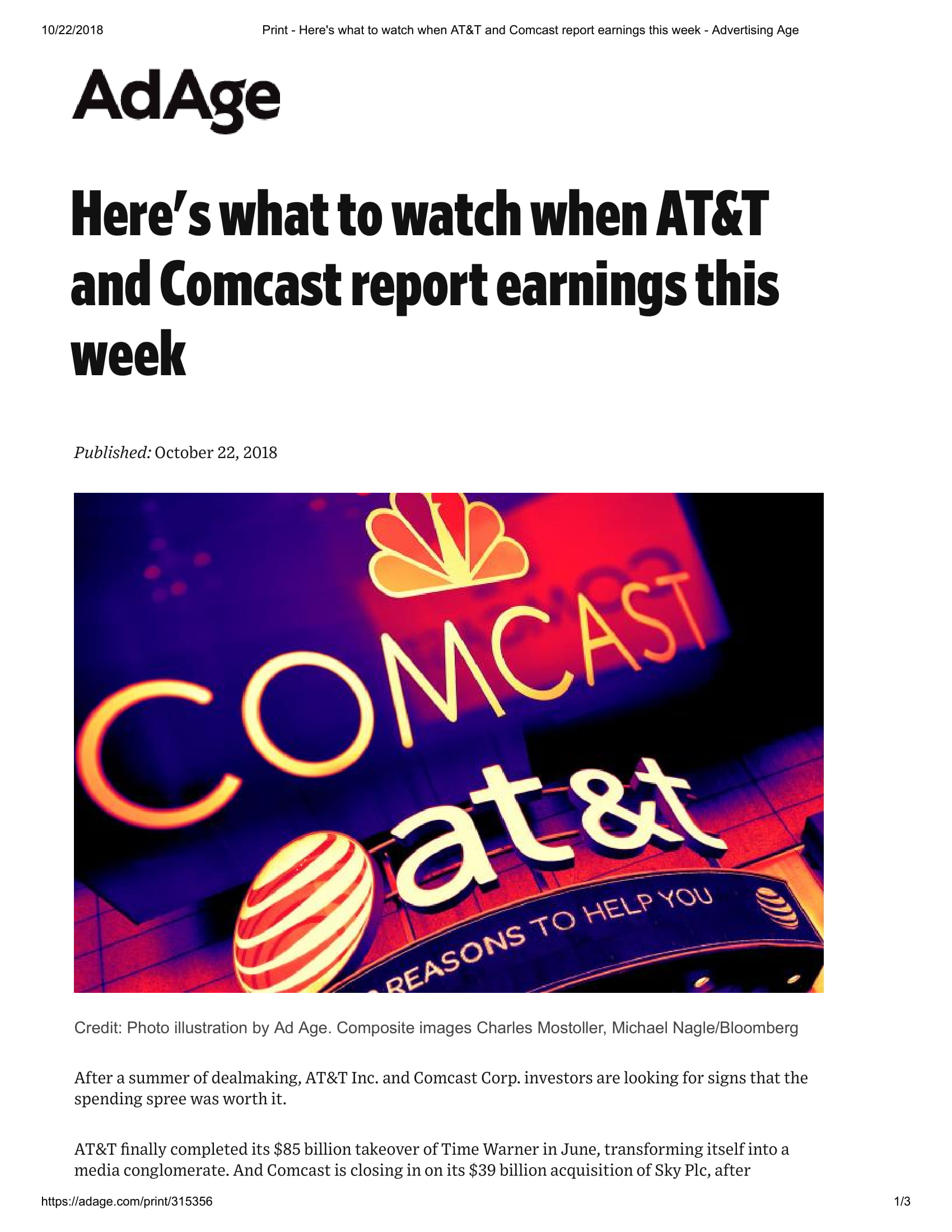 Print - Here's what to watch when AT&T and Comcast report earnings this week - Advertising Age-1.jpg