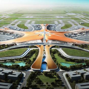 Zaha Hadid - Terminal di Daxing (Immagine by Deezen)