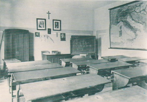 Tipica aula anni '50 e '60