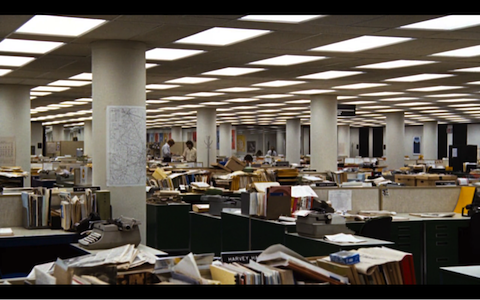 "A scene from  ""ALL president's men"""