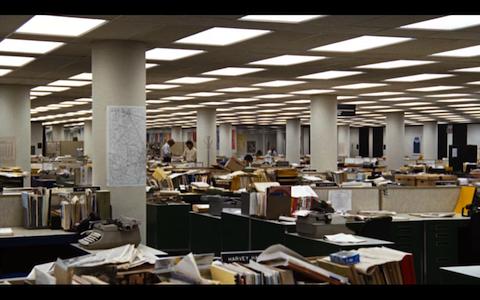 """scena tratta dal film """"Tutti gli uomini del presidente"""" del 1976."""