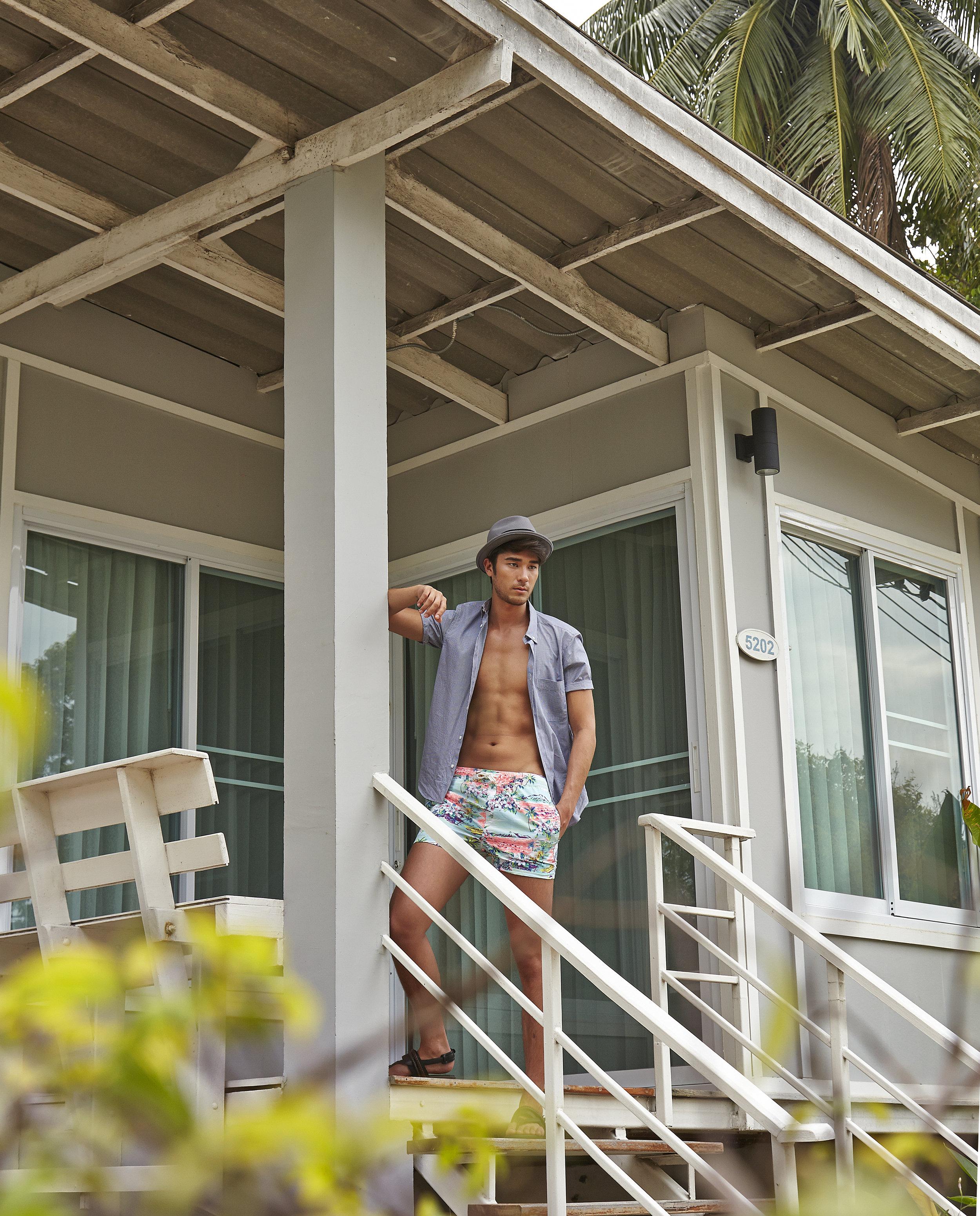 Model : Kenta Sakurai @kentasakura  Clothes : 4X4 MAN  Location :Bangsaen Heritage Hotel