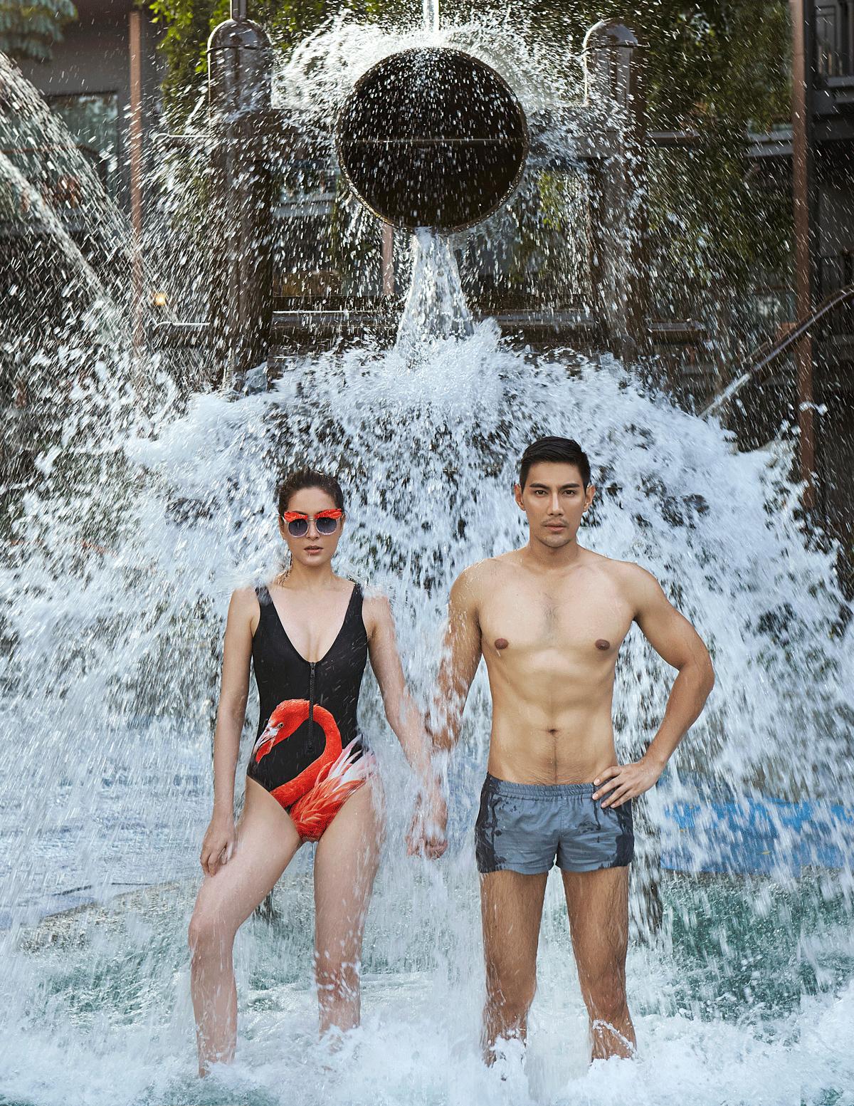 Nachad : swimwear : La La Love / sunglasses : 77th  Mungkorn : shorts : SARIT