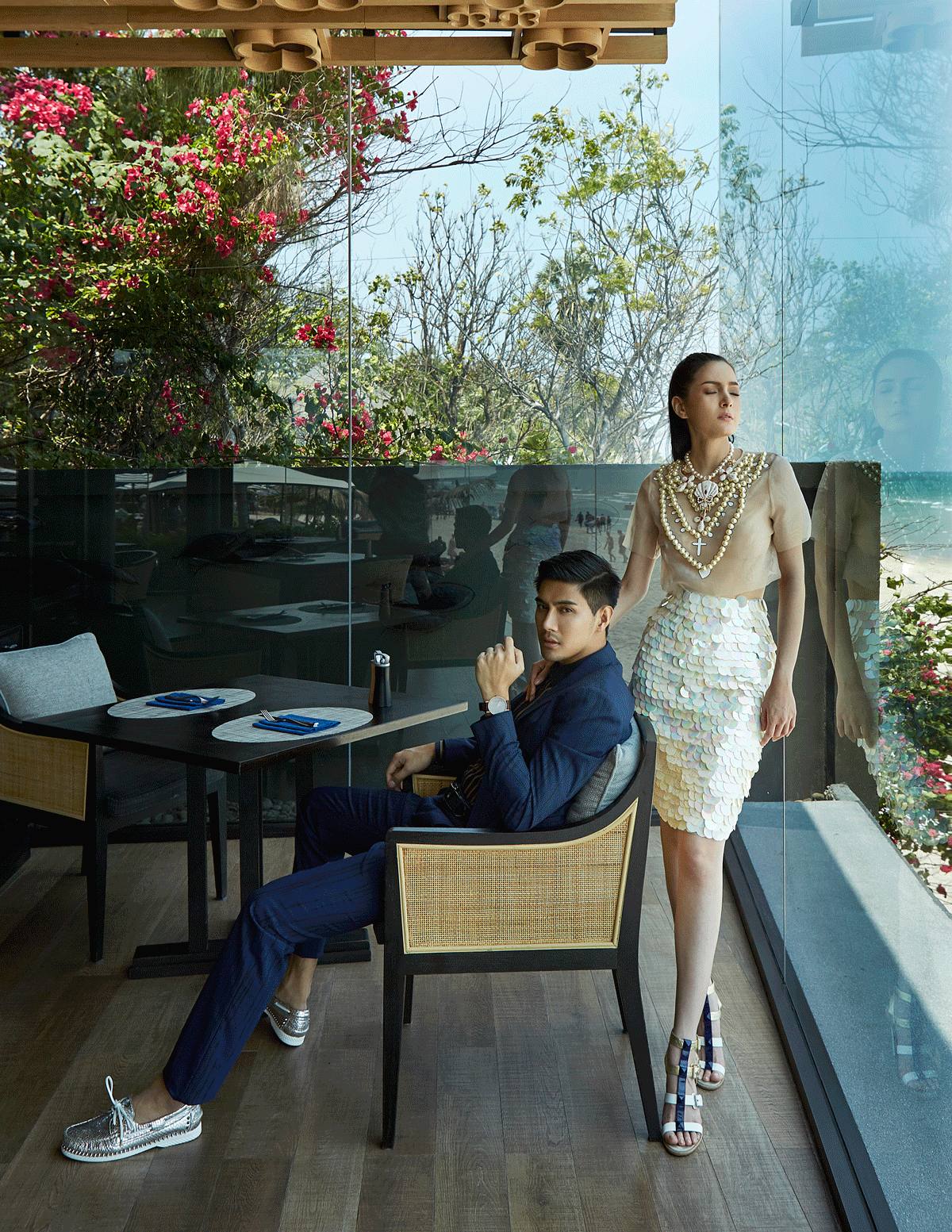 Mungkorn : clothes : Calvin Klein Platinum / shoes : Christian Louboutin  Nachad : clothes and accessories : 77th / shoes : Christian Luboutin