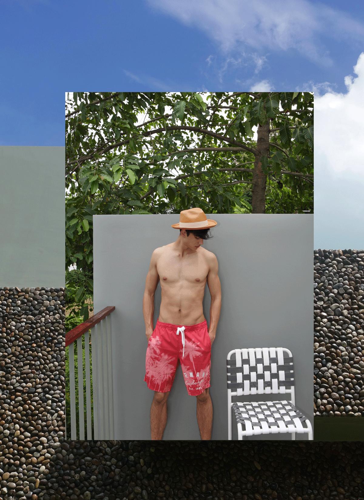shorts : A/X Armani Exchange