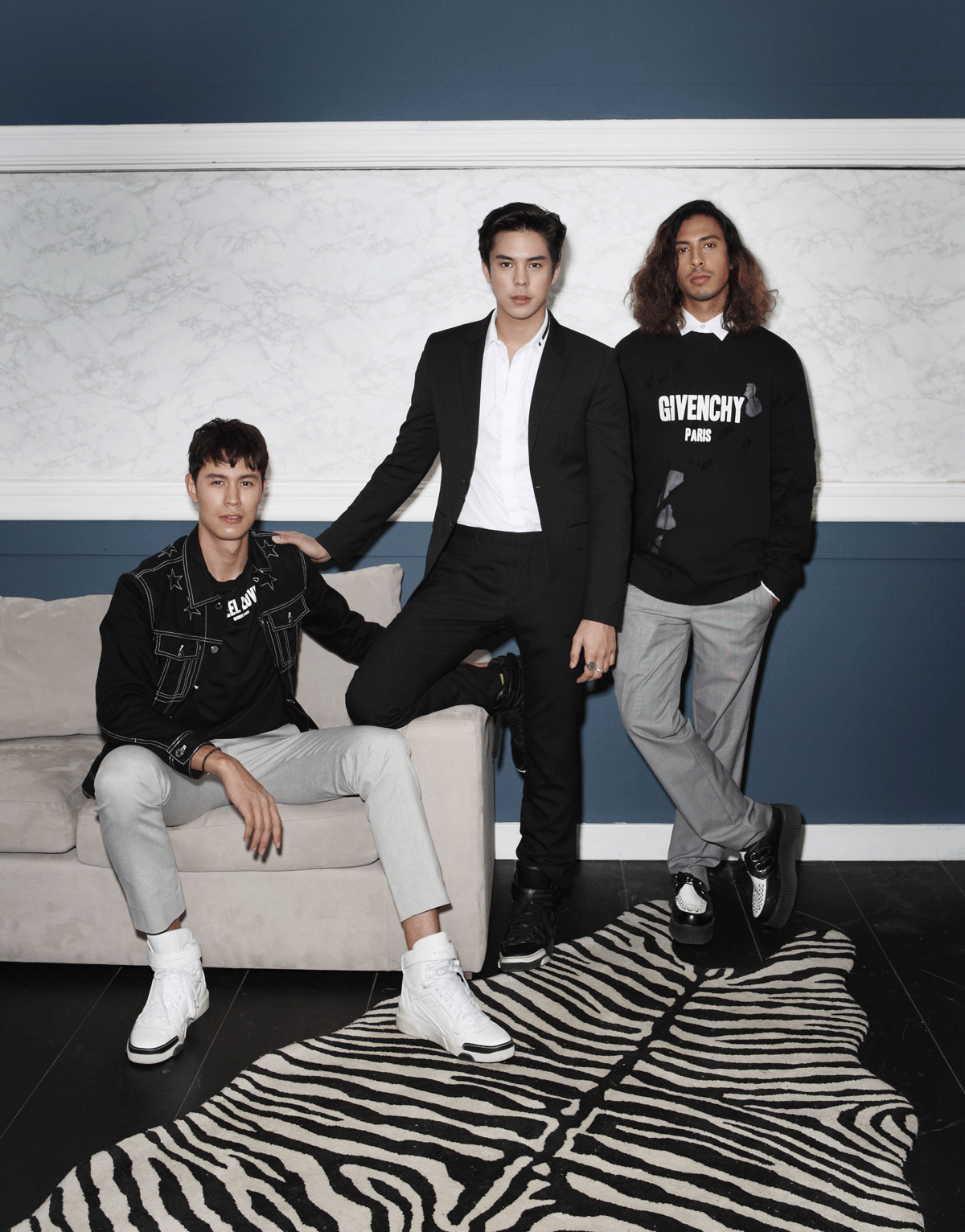 Mentor Peach , Man and Joseph / all in GIVENCHY