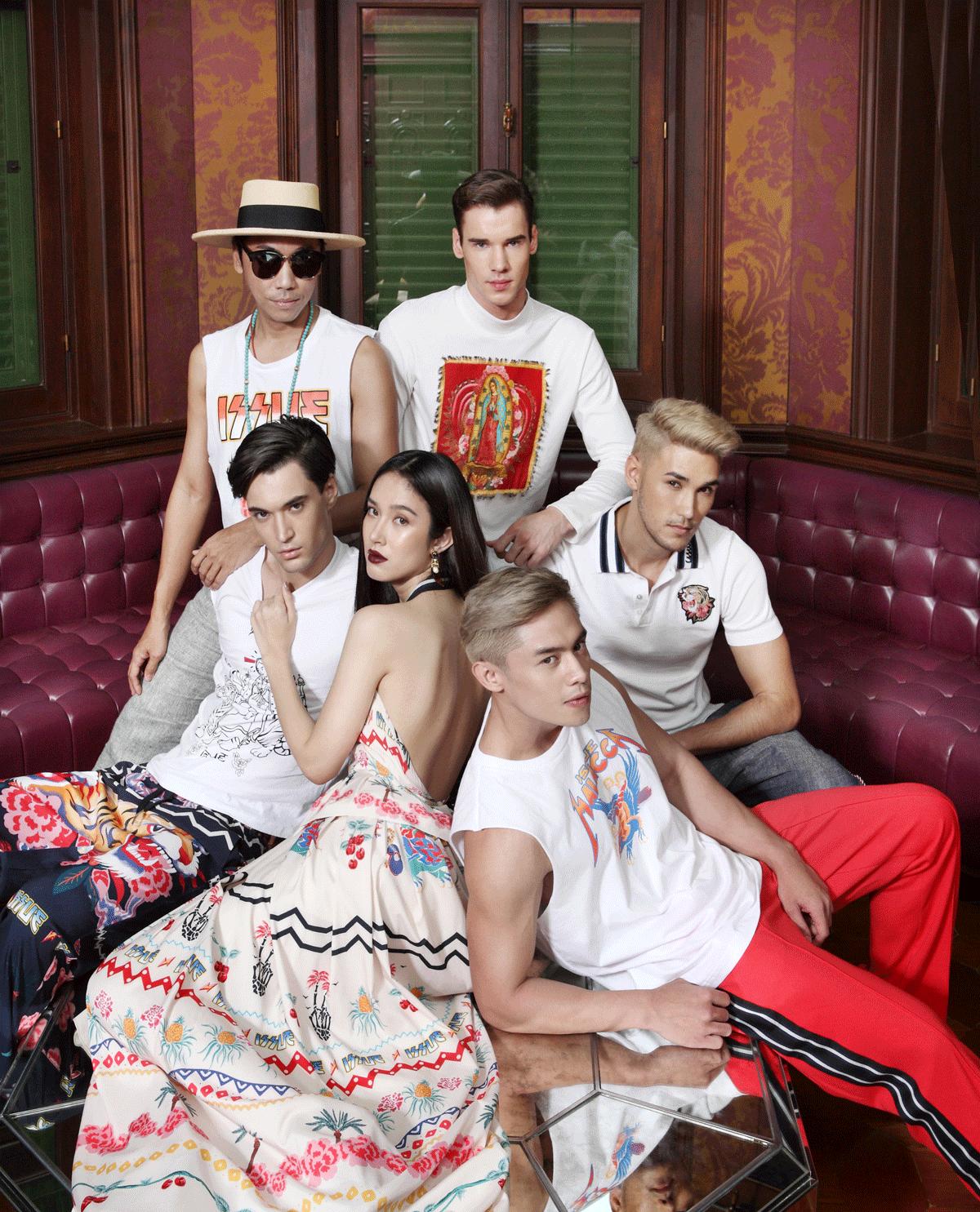 Roj Bhubawit Kritpholnara / ISSUE owner with his models