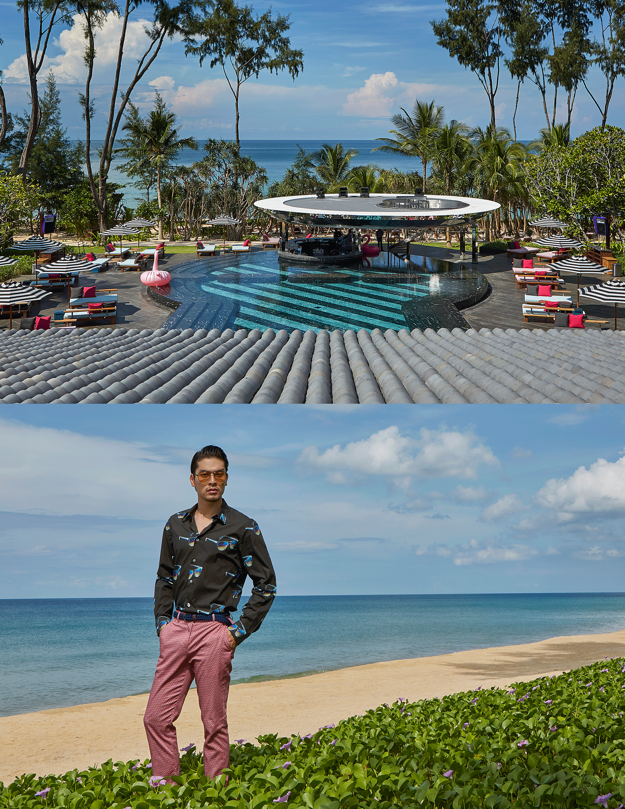 Baba Beach Club, Phuket  Photo : Republic Studio  Model : Victor Chou @vchou13 @redmodelling  Clothes : Paul Smith @club21thailand  Eyewear : TAVAT #tavateyewear  Location : Baba Beach Club, Phuket  88 Moo 5 Khok Klou, Takua Thung, Phang-Nga 82410, THAILAND  Tel +66 76 429 388   www.bababeachclub.com