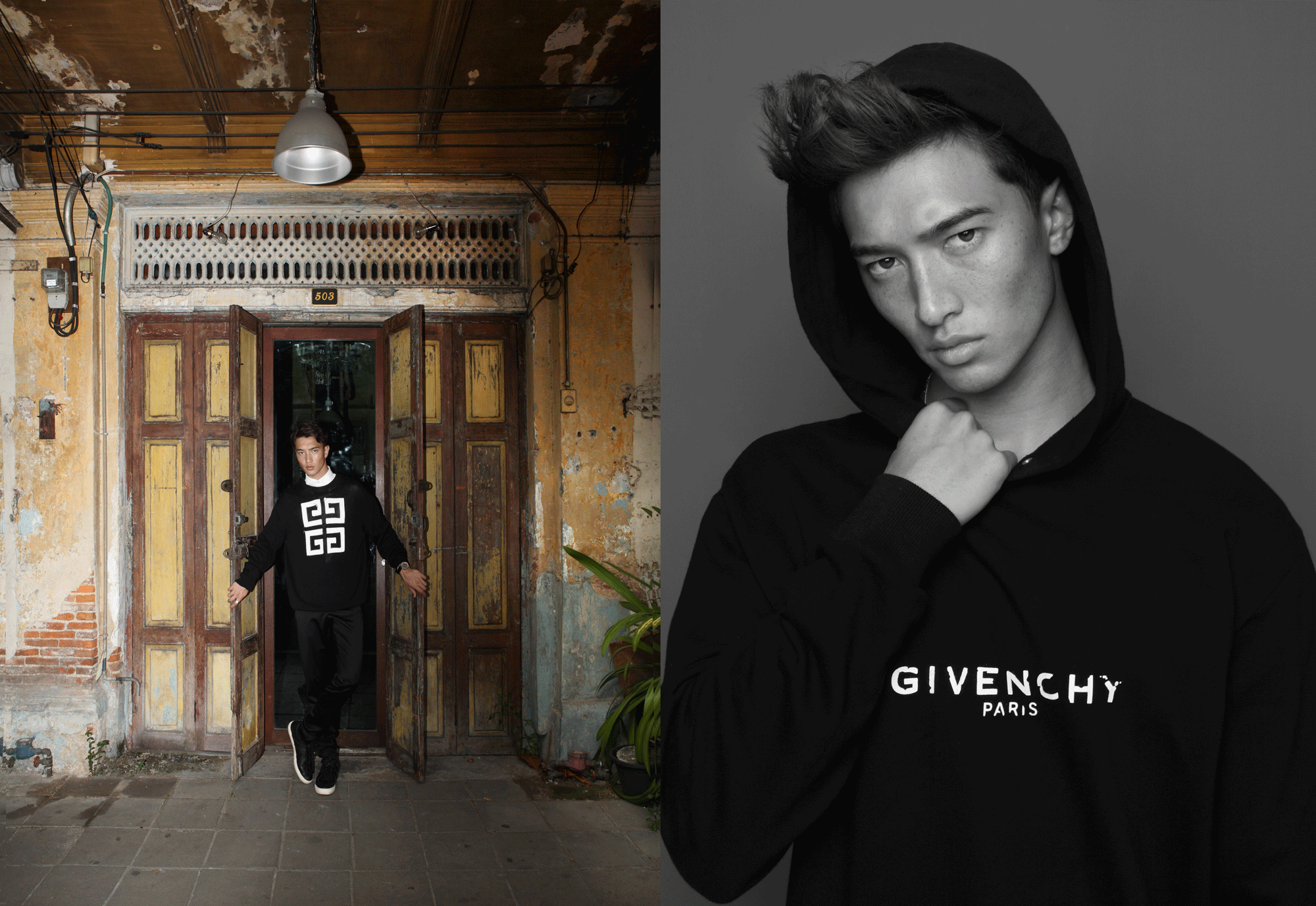 clothes : GIVENCHY / watch : FORREST