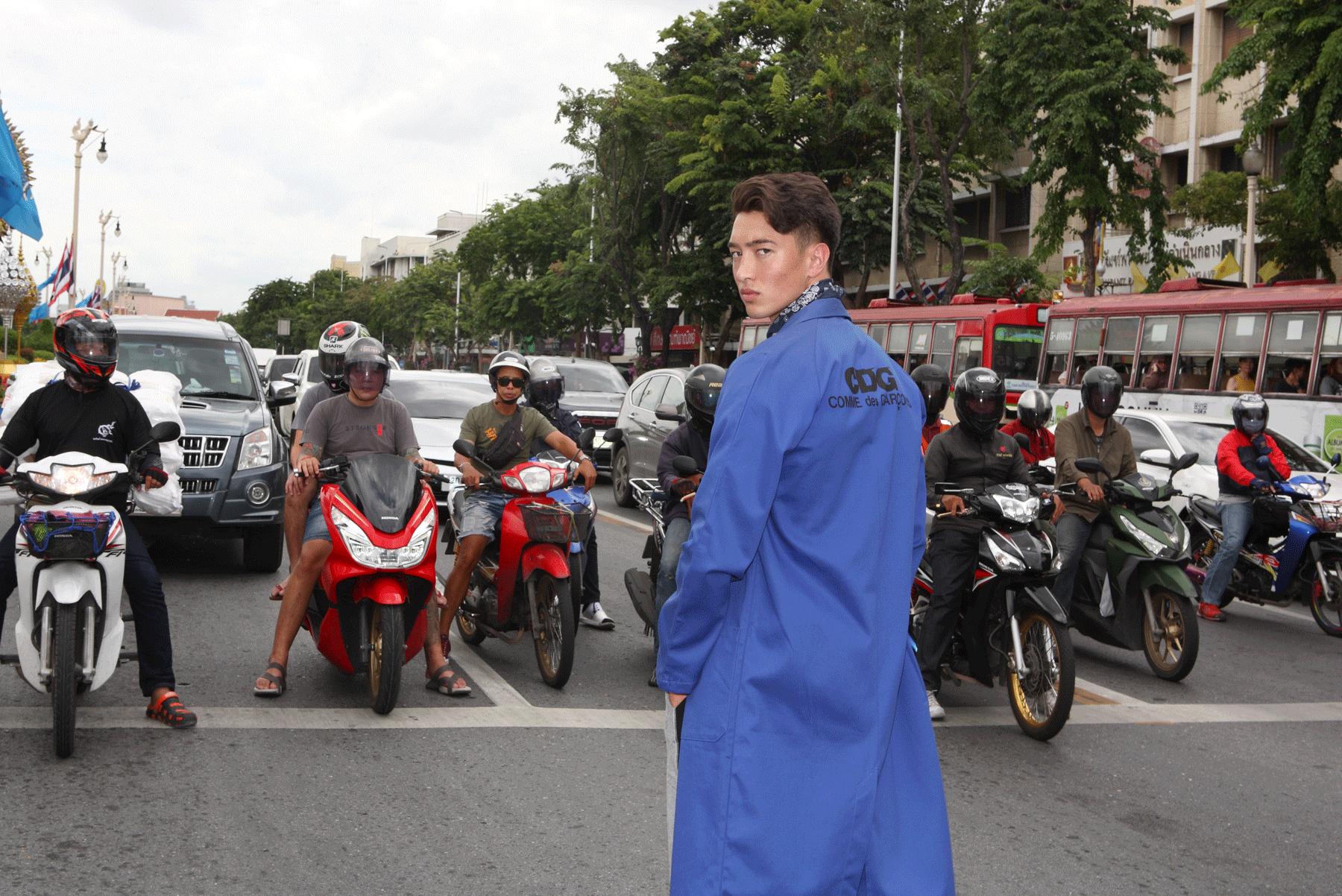 jacket : Comme des Garcons / tshirt : PAINKILLER / pants : NOXX wear