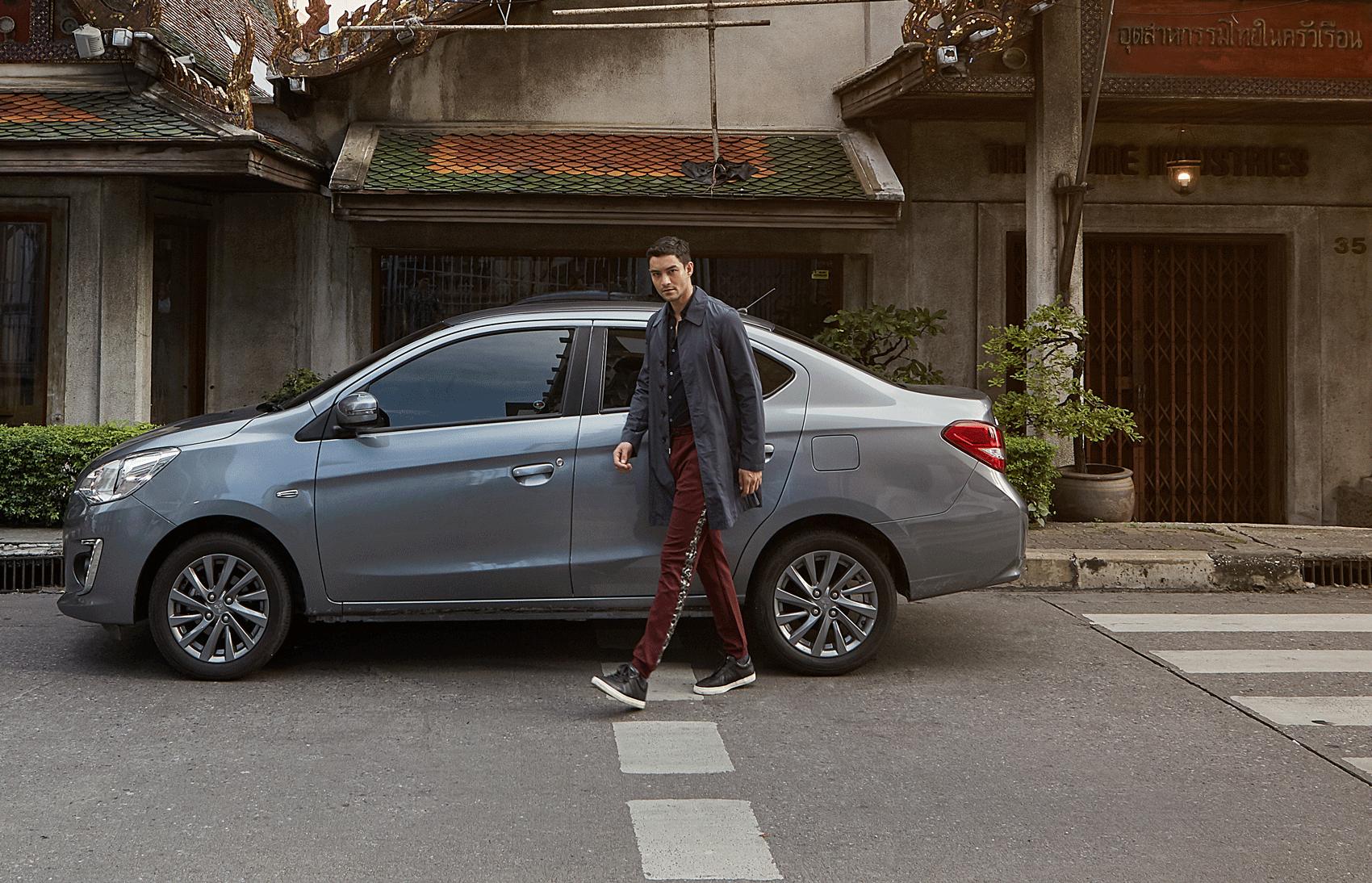 car : Mitsubishi NEW Attrage   shirt : Jil Sander/ pants : Theatre