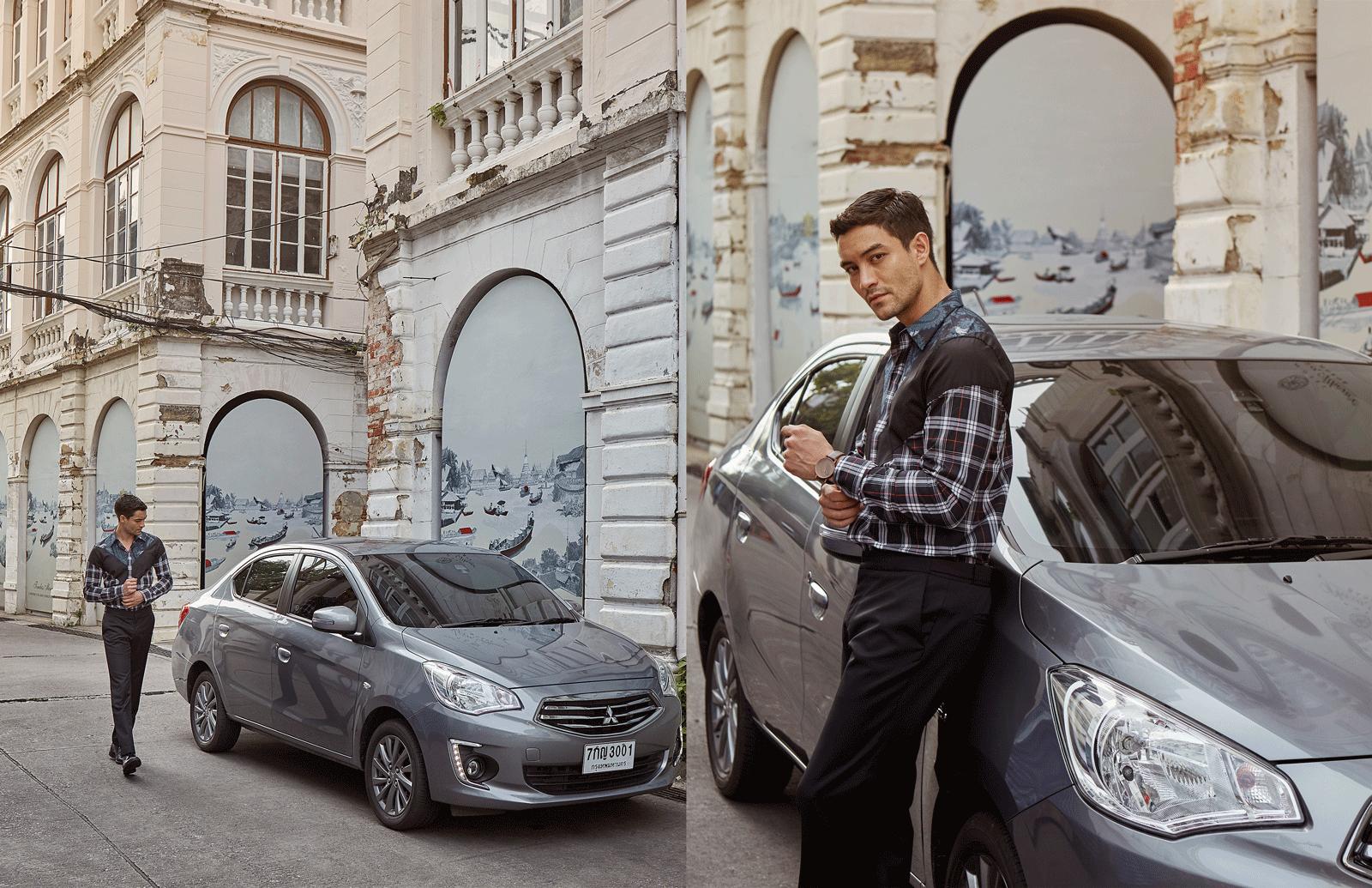 car : Mitsubishi NEW Attrage  shirt : GIVENCHY