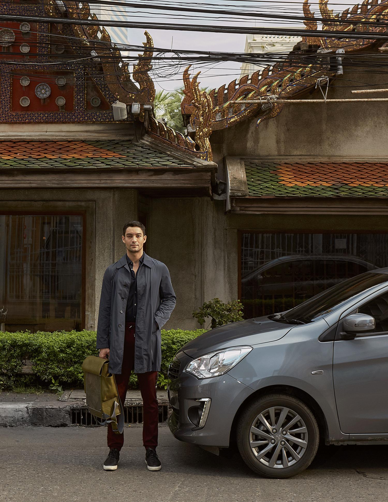 car : Mitsubishi NEW Attrage  shirt : Jil Sander / pants : Theatre / bag : FORREST