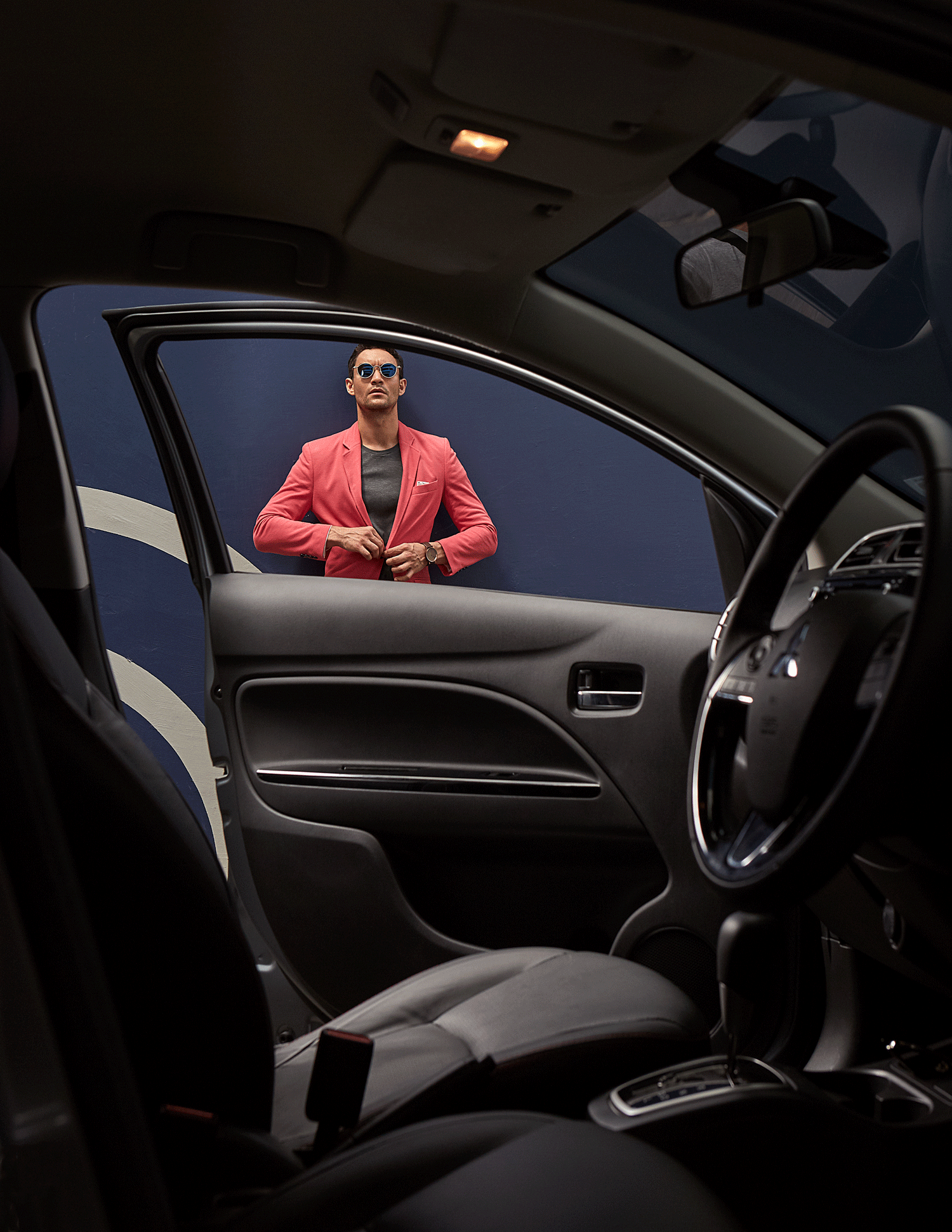 car : Mitsubishi NEW Attrage  clothes : SARIT / sunglasses : TAVAT / watch : FORREST