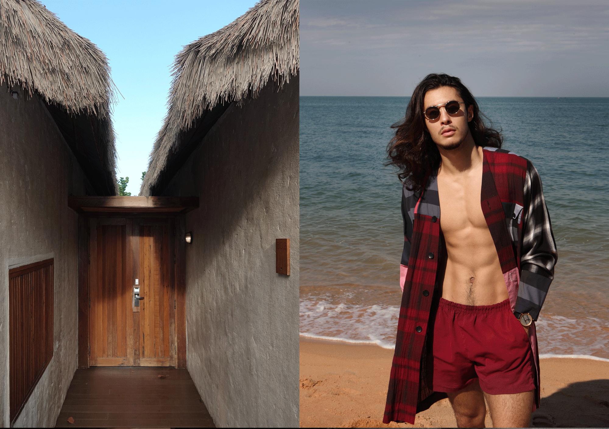 robe : PAINKILLER/ sunglasses : Boston Club / watch : FORREST