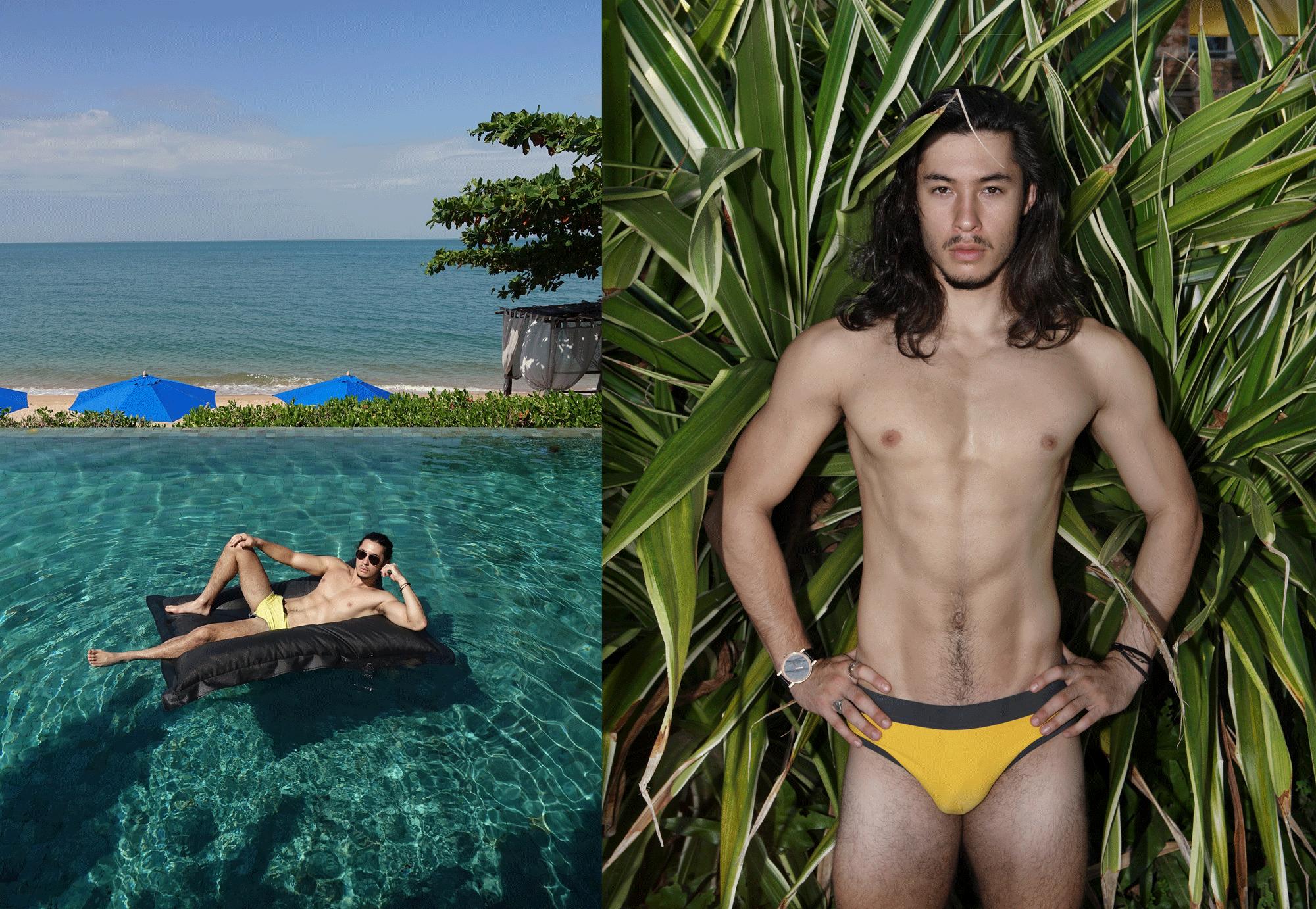 swimwear : NOXX / watch : FORREST