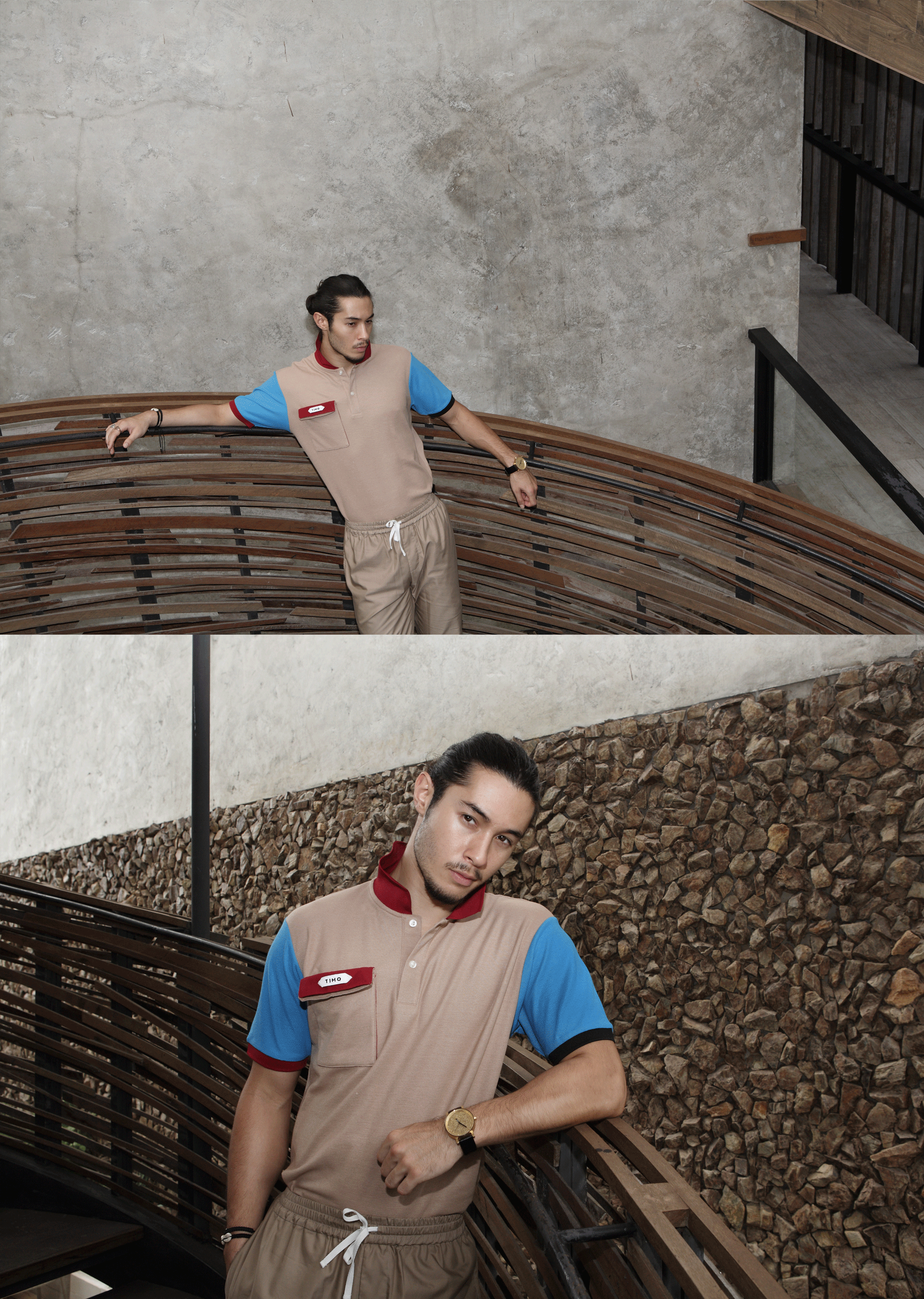 polo tshirt : TIMO /pants : PAINKILLER / watch : FORREST