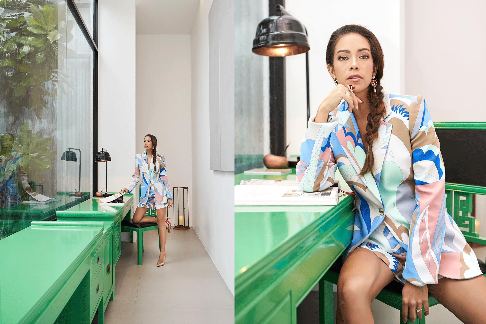 clothes : EMILIO PUCCI / accessories : 77th