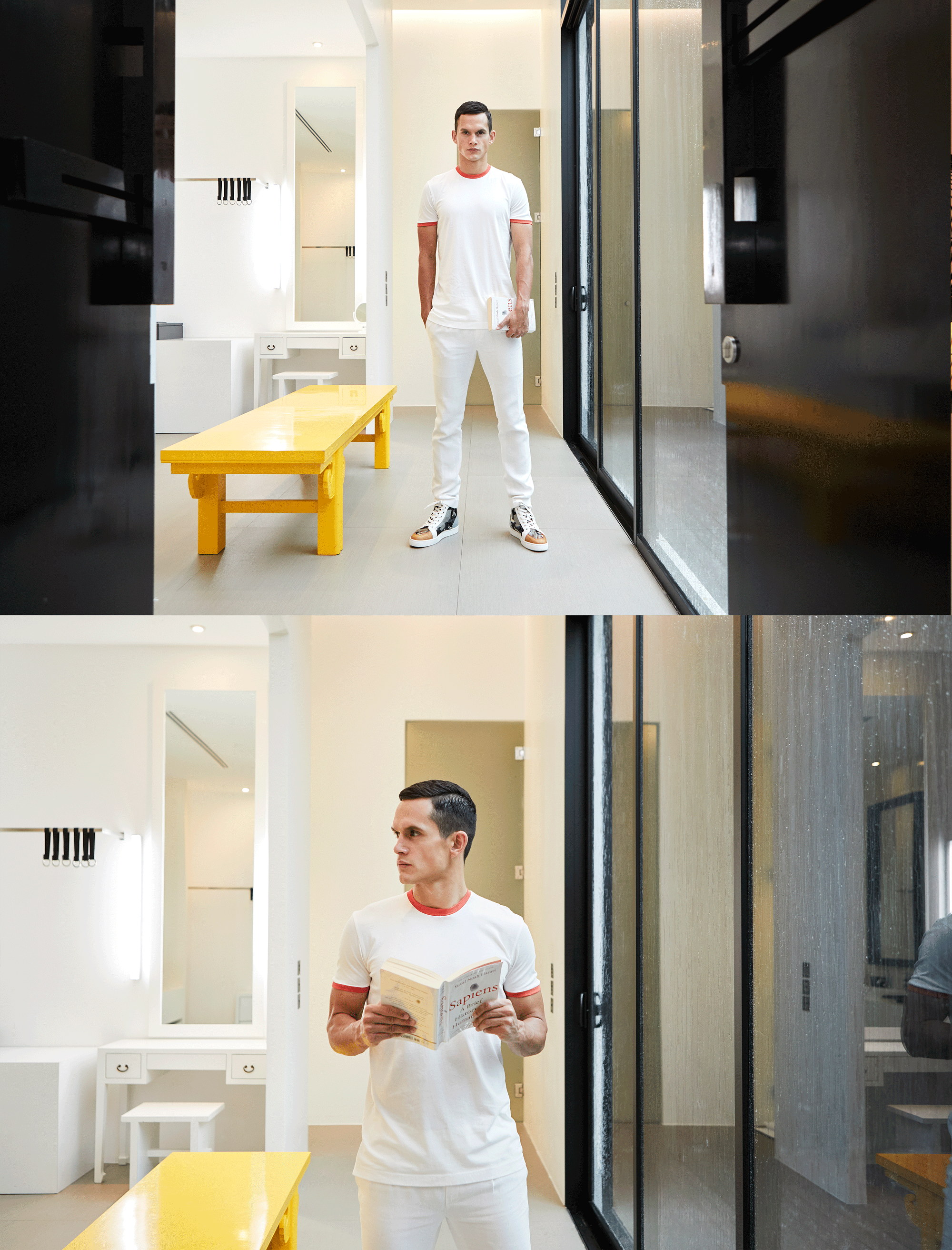 Tshirt : NOXX / pants : POEM menswear