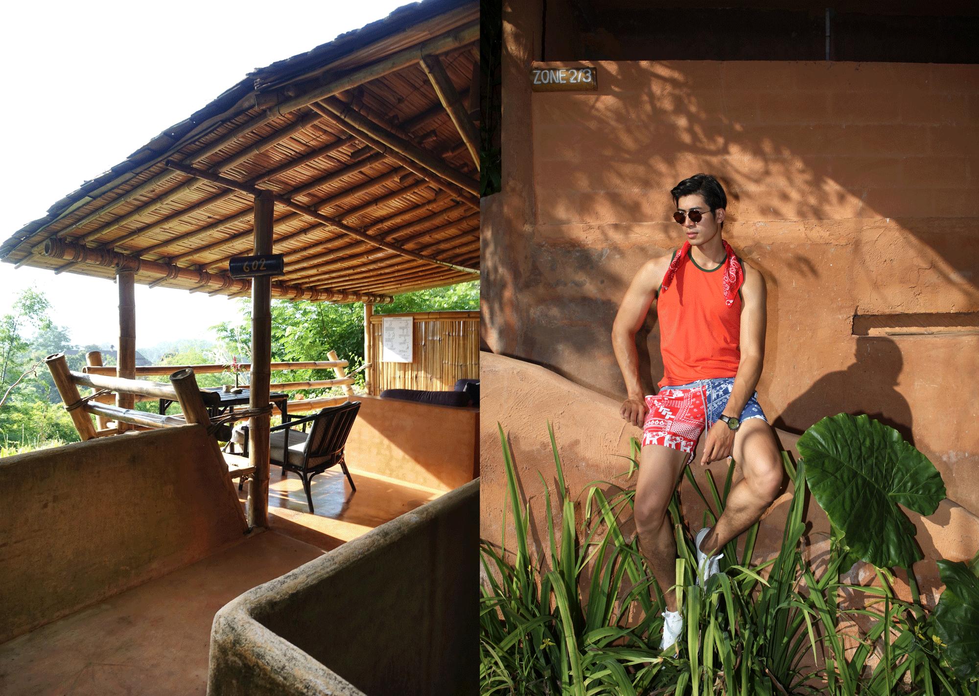 tanktop : NOXX / shorts : Salawan / watch : FORREST / sunglasses : TAVAT