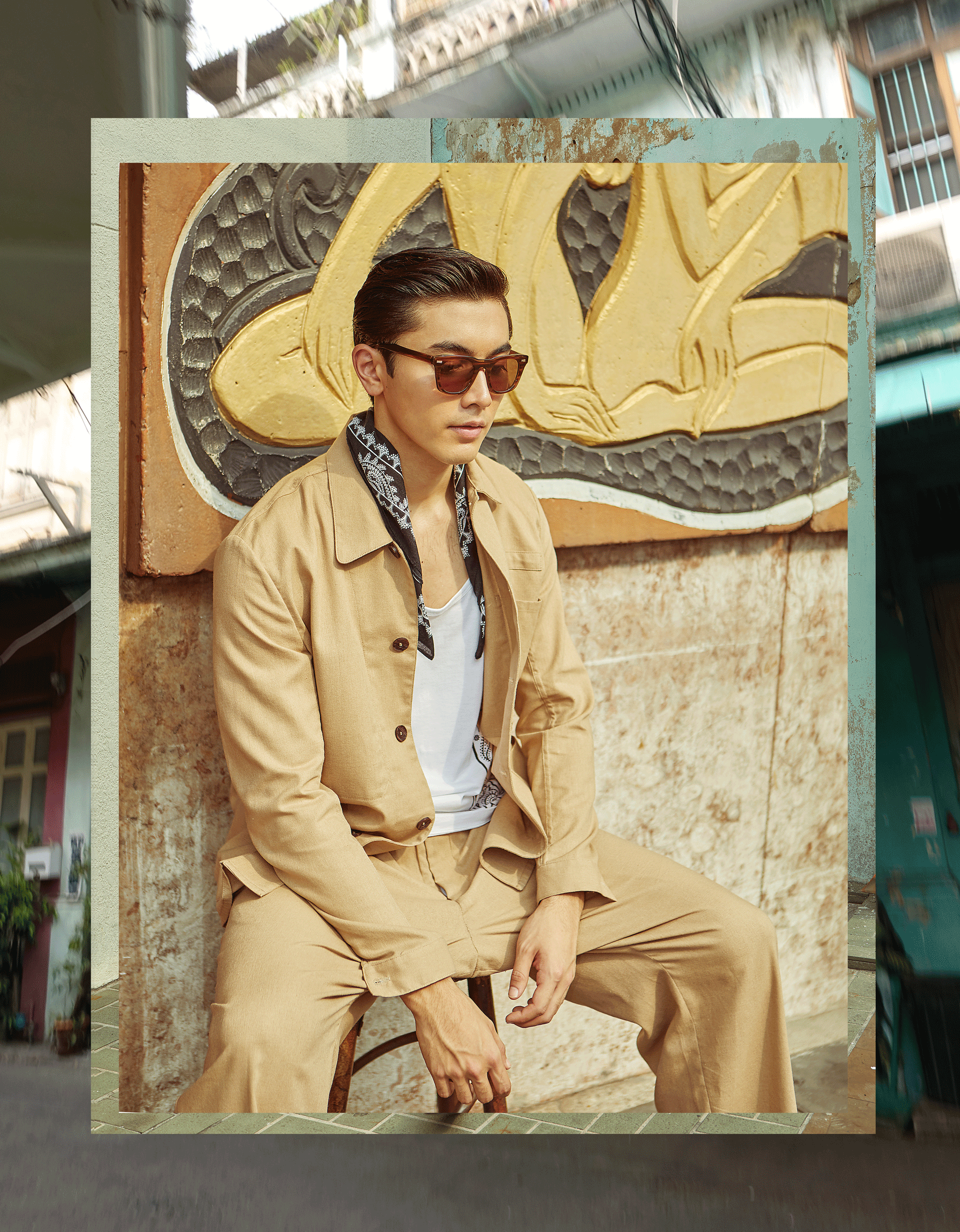 clothes : PAINKILLER / sunglasses : Blake Kuwahara