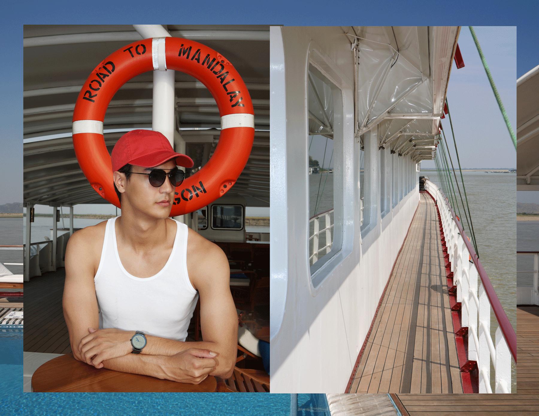tanktop : JOCKEY / watch : FORREST / sunglasses : SPEKTRE