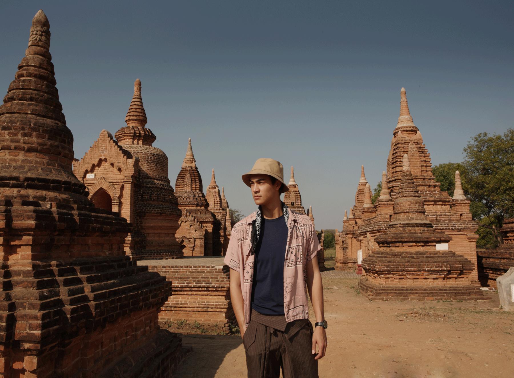 Khaymingha Temple  Tshirt : JOCKEY / shirt : PAINKILLER / pants : SARIT / watch : FORREST