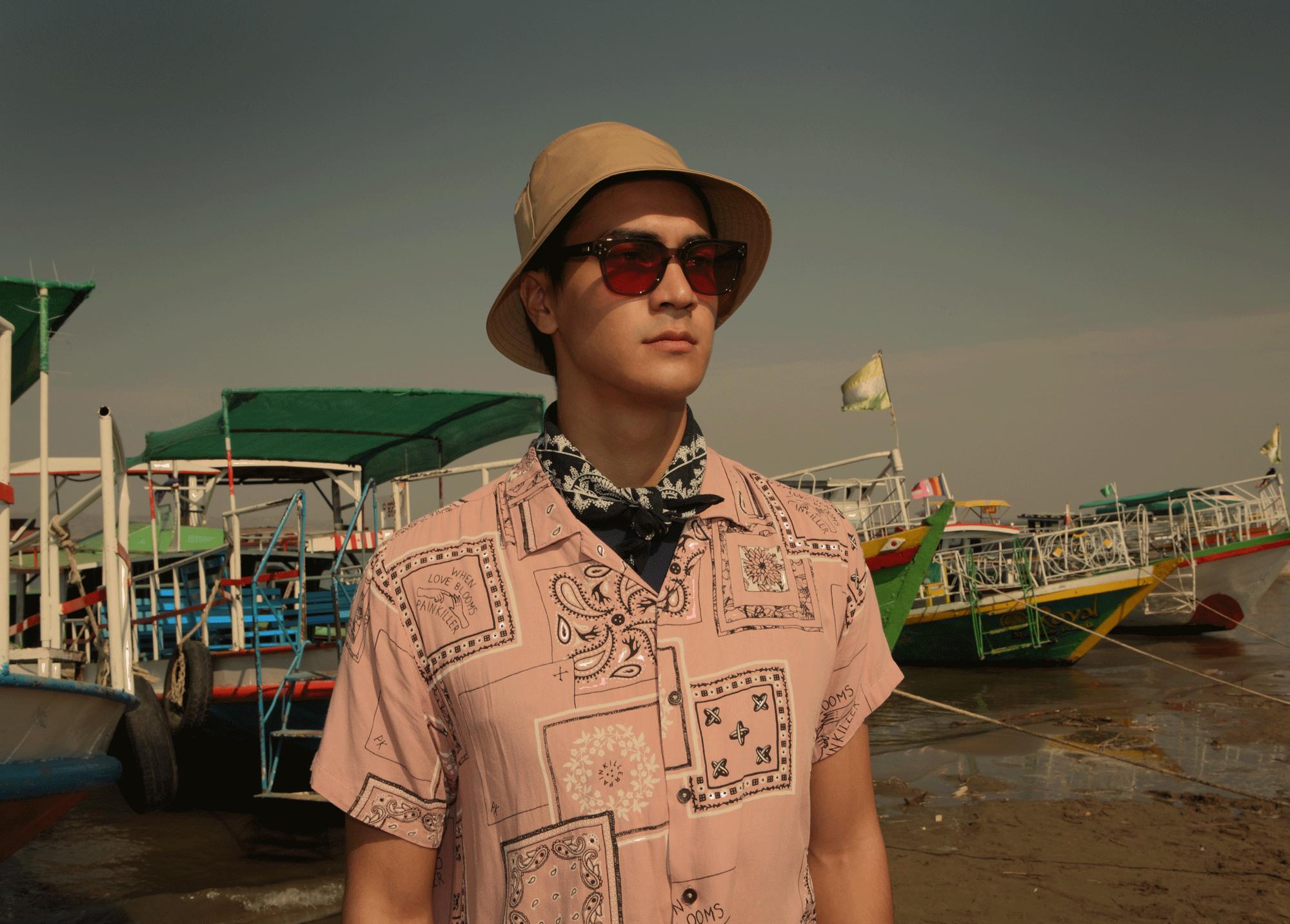 shirt : PAINKILLER / sunglasses : SPEKTRE