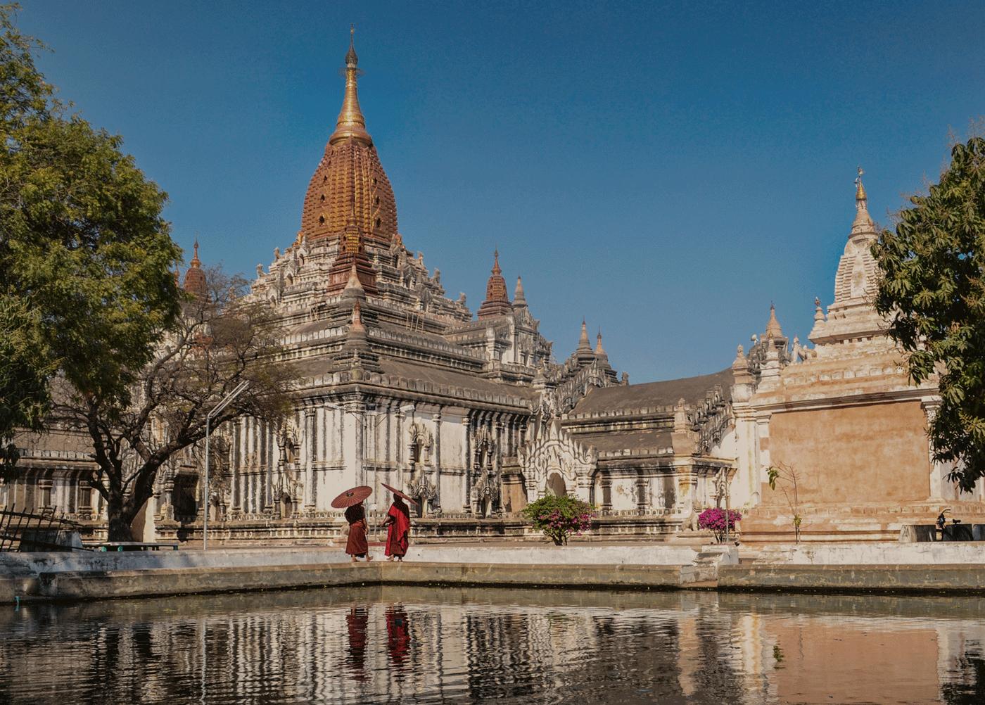 Photo Cr : Belmond Road to Mandalay  Ananda Temple - Bagan