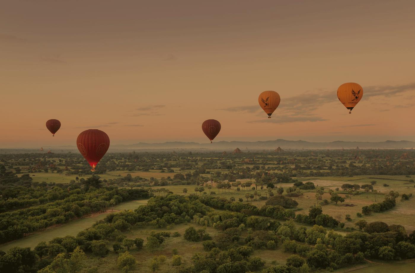 Balloons over Bagan  Photo Cr : Belmond Road to Mandalay