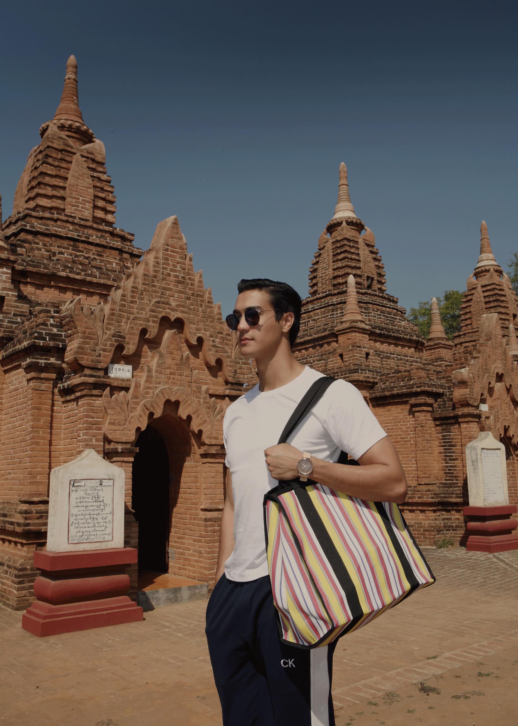 Khaymingha Temple - Bagan  Tshirt : JOCKEY / pants : CK Calvin Klein / watch : FORREST / sunglasses : SPEKTRE / bag : Red Modeling