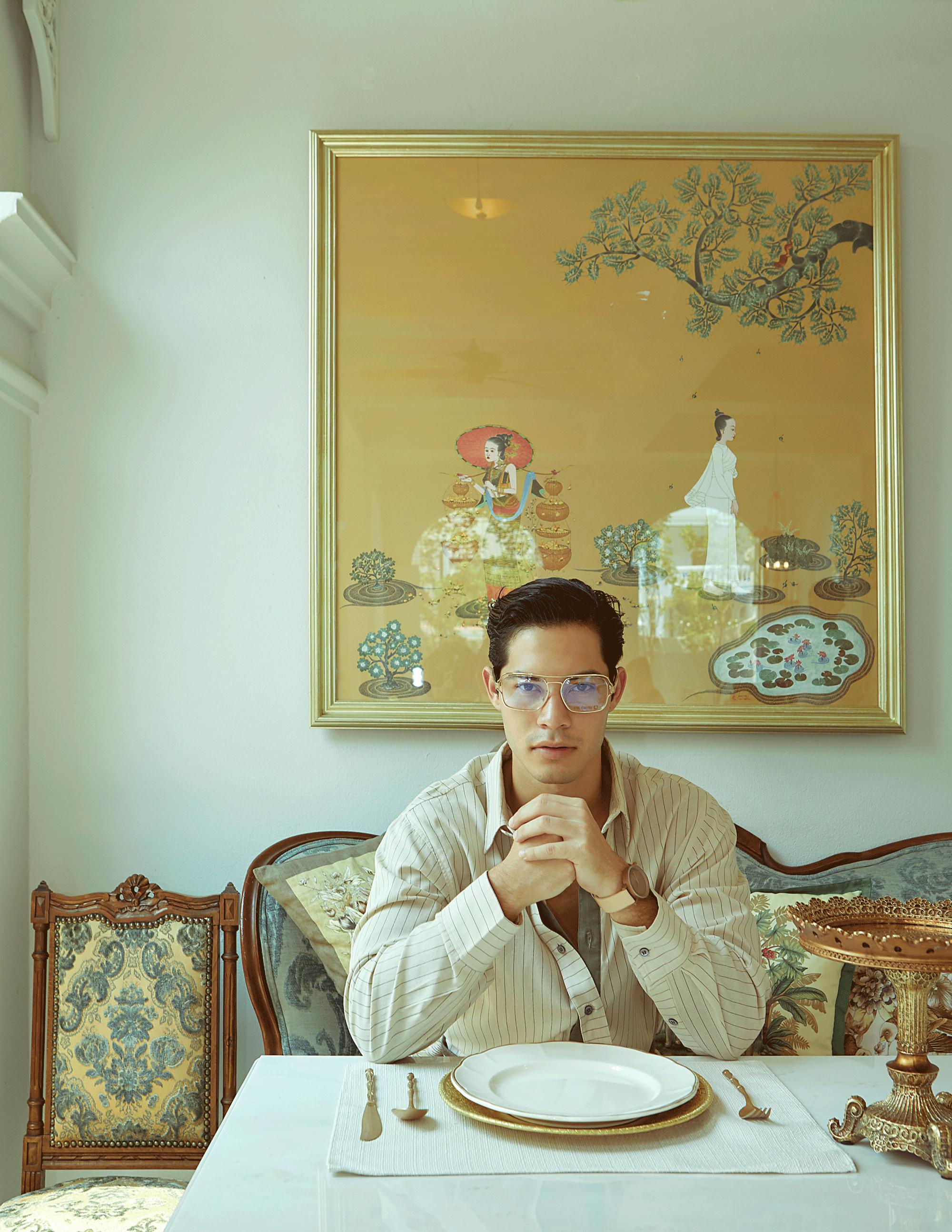 clothes : Leisure Projects / eyeglasses : Blake Kuwahara