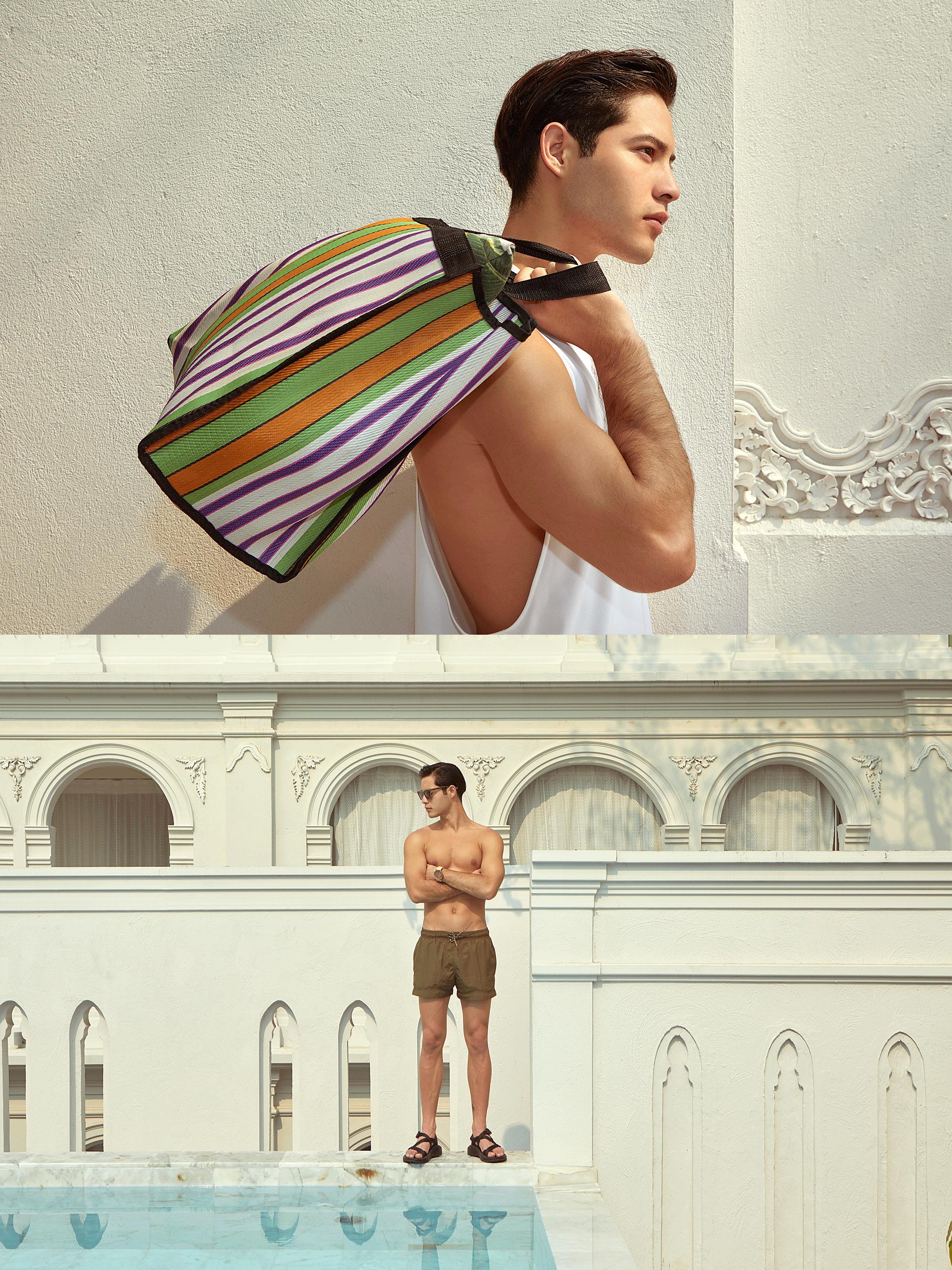 tshirt : SARIT / shorts : H&M / bag : Red Modeling / sunglasses : Blake Kuwahara / watch : FORREST