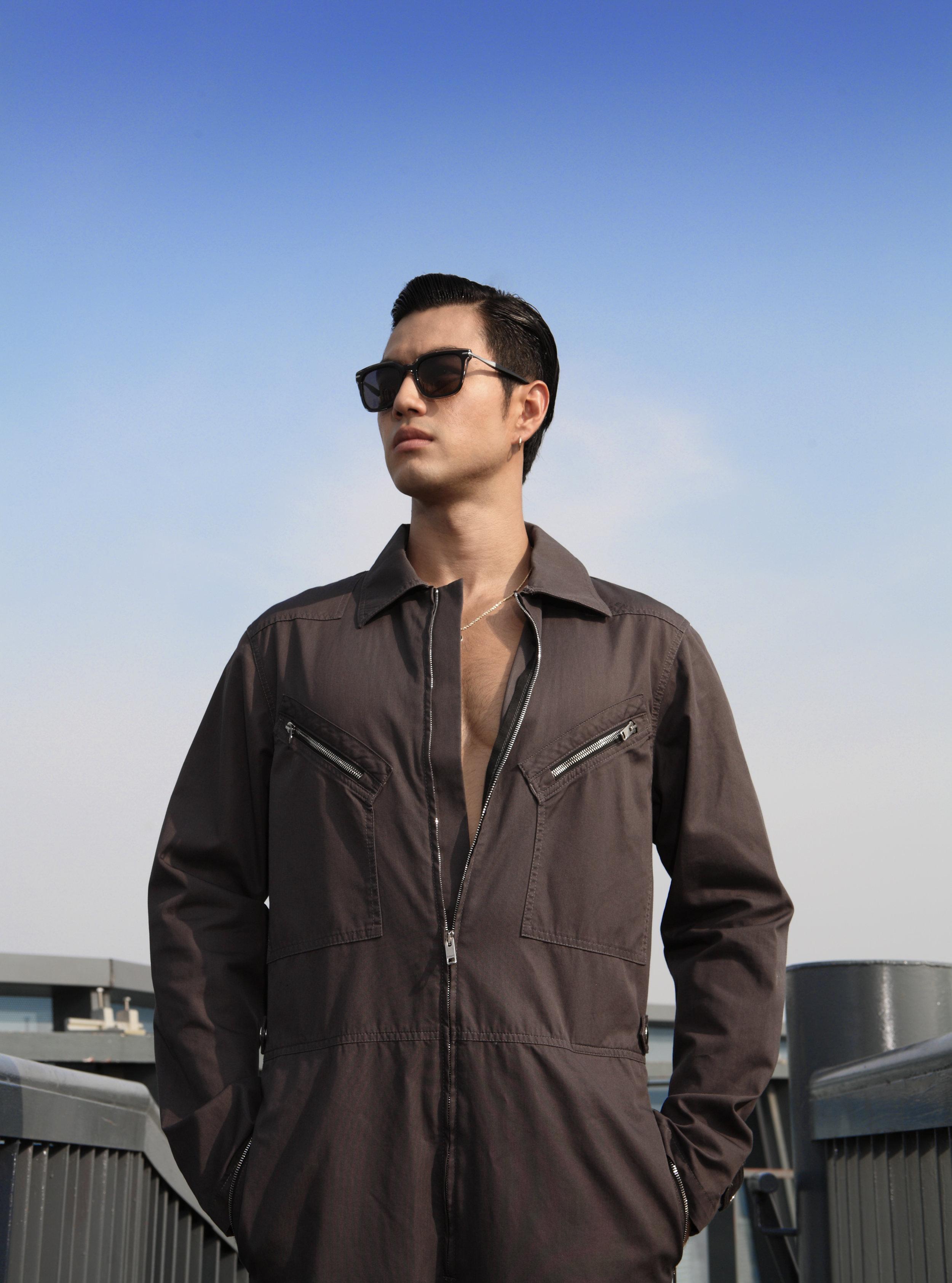 jumpsuit : GIVENCHY / sunglasses : Blake Kuwahara