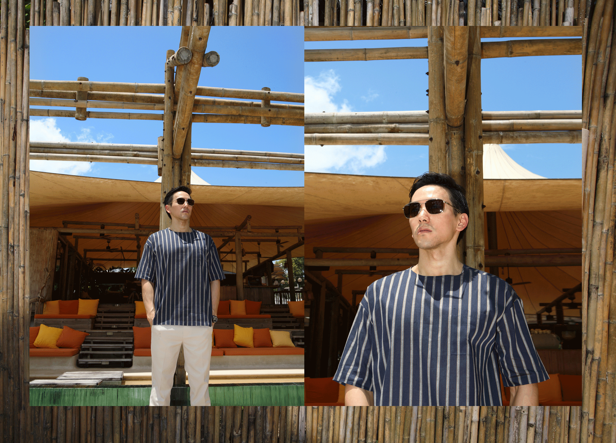 clothes : BLAACK by G2000  sunglasses : TAVAT