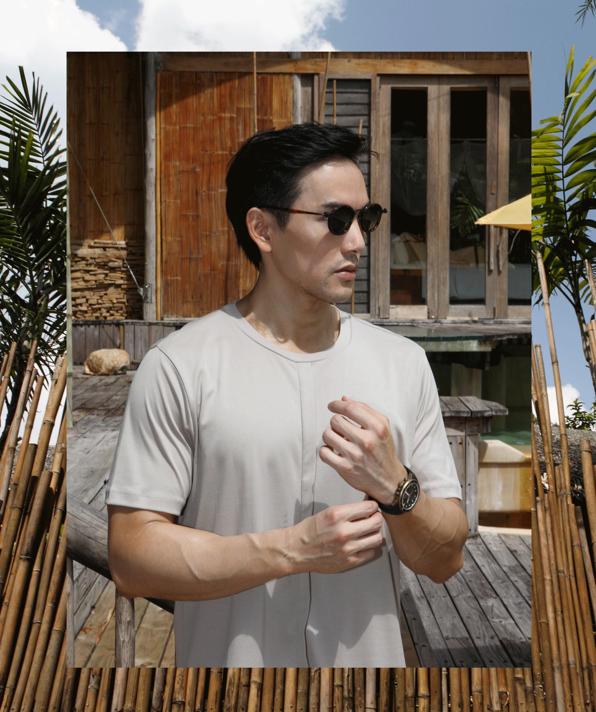 clothes : BLAACK by G2000  watch : TISSOT Seastar 1000 Chronograph  sunglasses : TAVAT