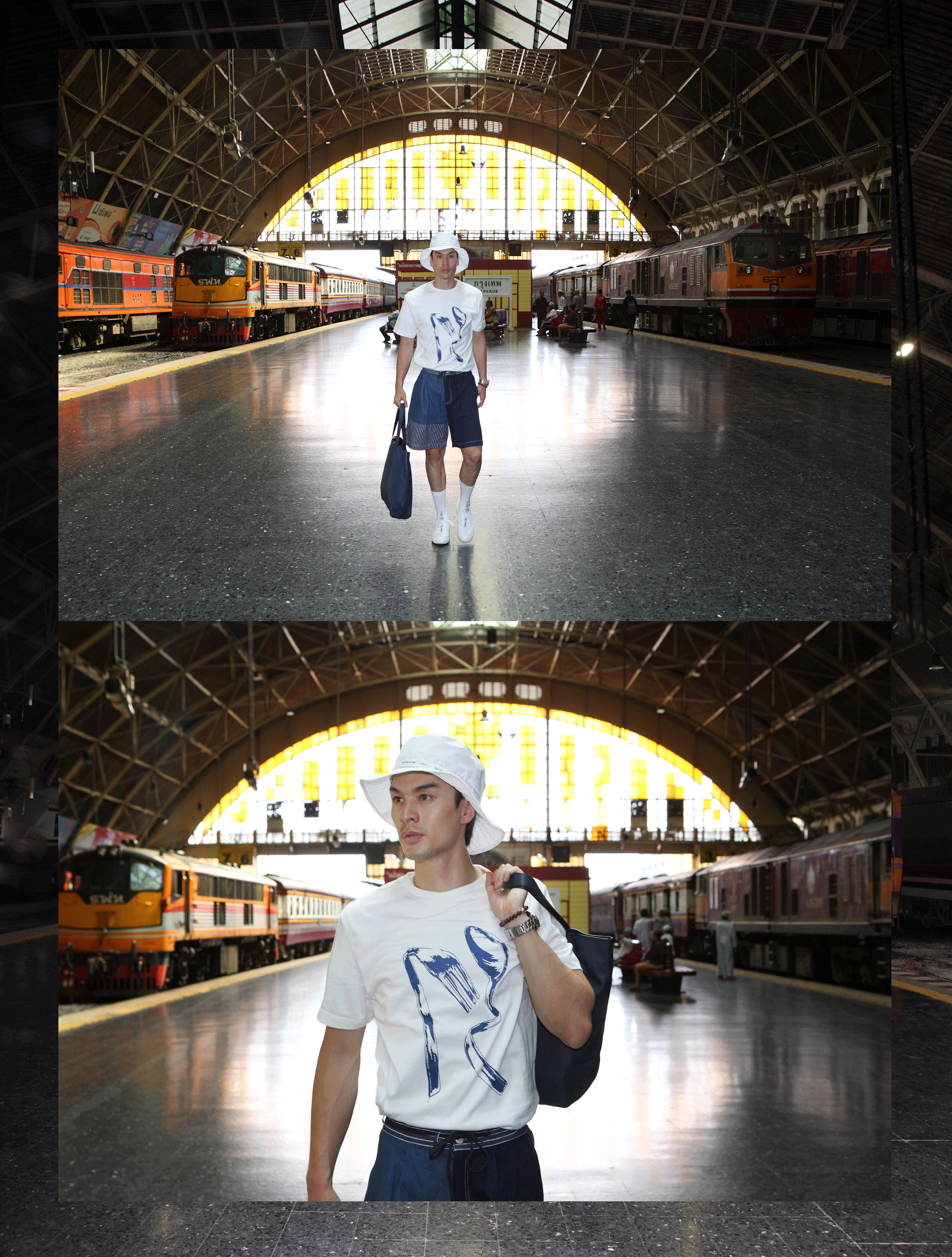 clothes : Everyday Karmakamet / hat : PAINKILLER / bag : CONTAINER