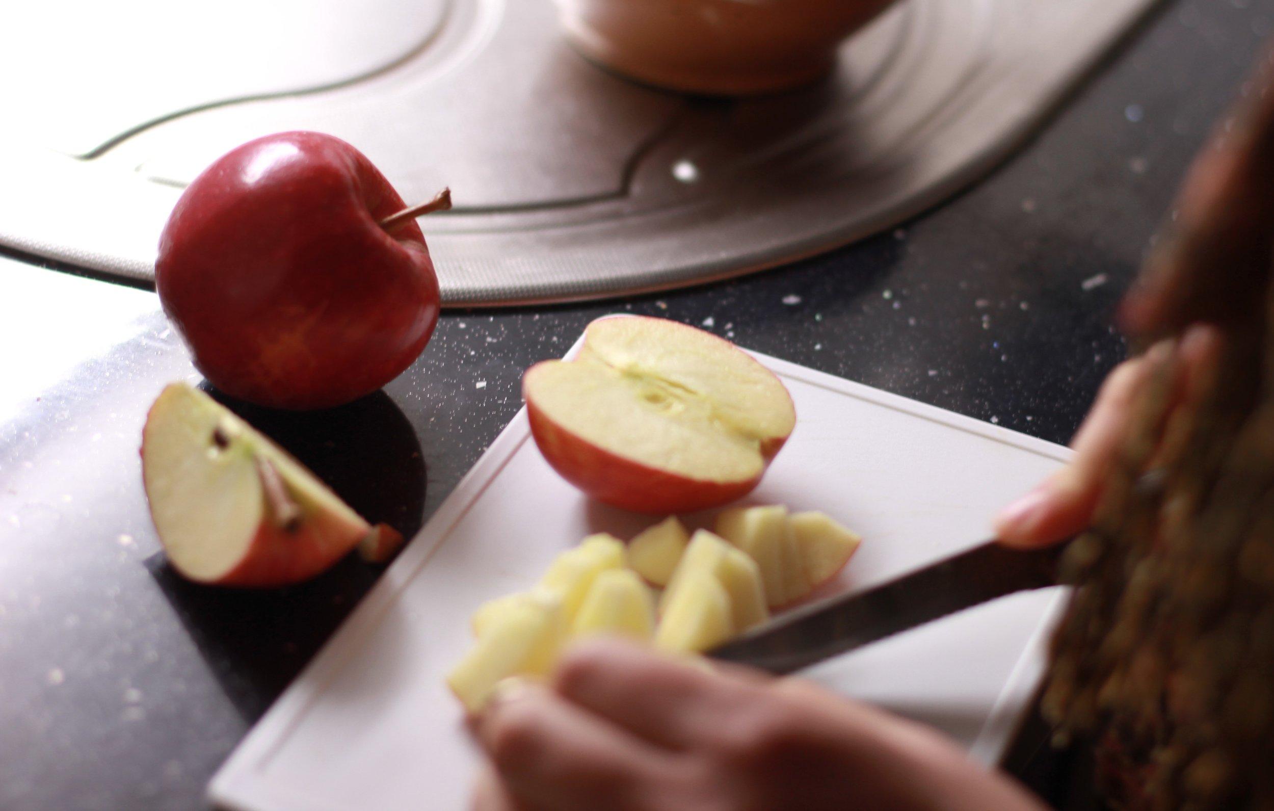 gallete à la pomme dans le four grille-pain | seekthewelfare