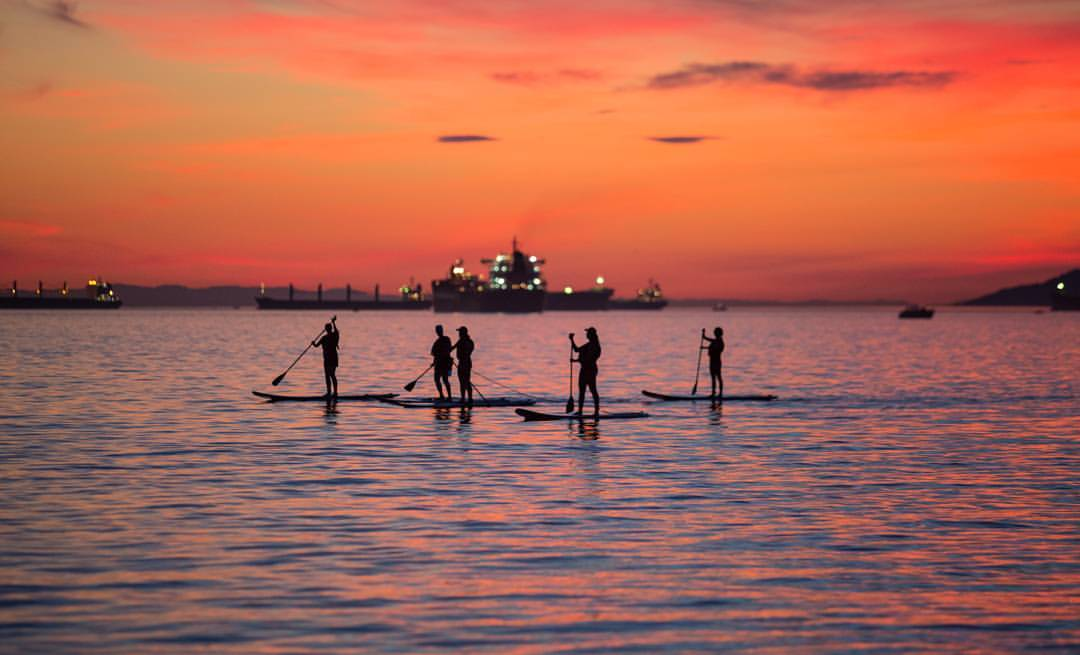 Silhouette Paddle Boarding