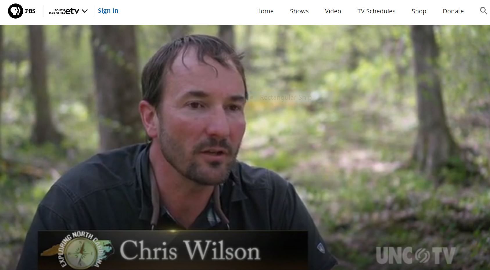 Chris Wilson discusses salamander diversity in PBS episode of Exploring North Carolina