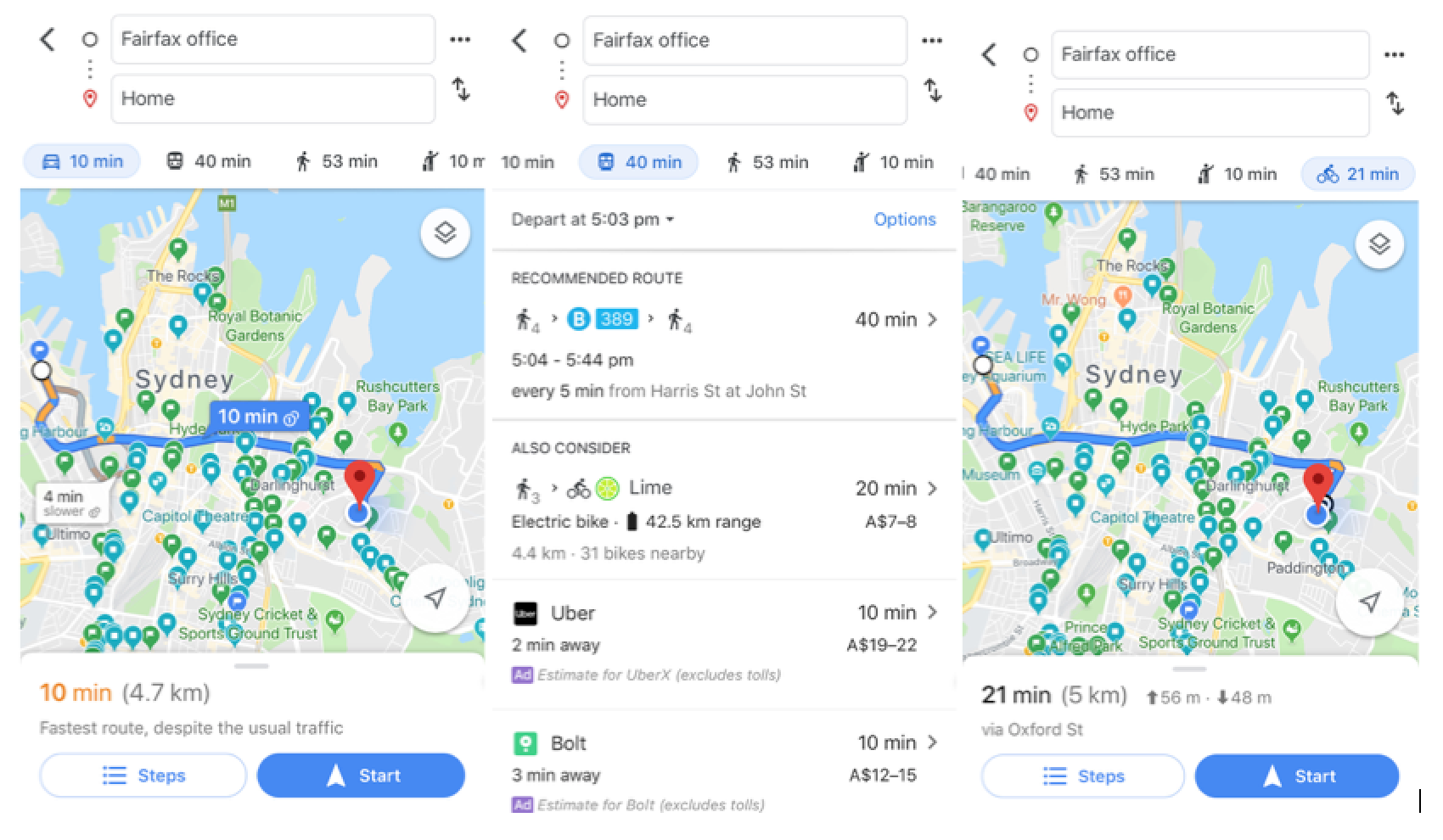 Commute to and from city from Eastern suburbs