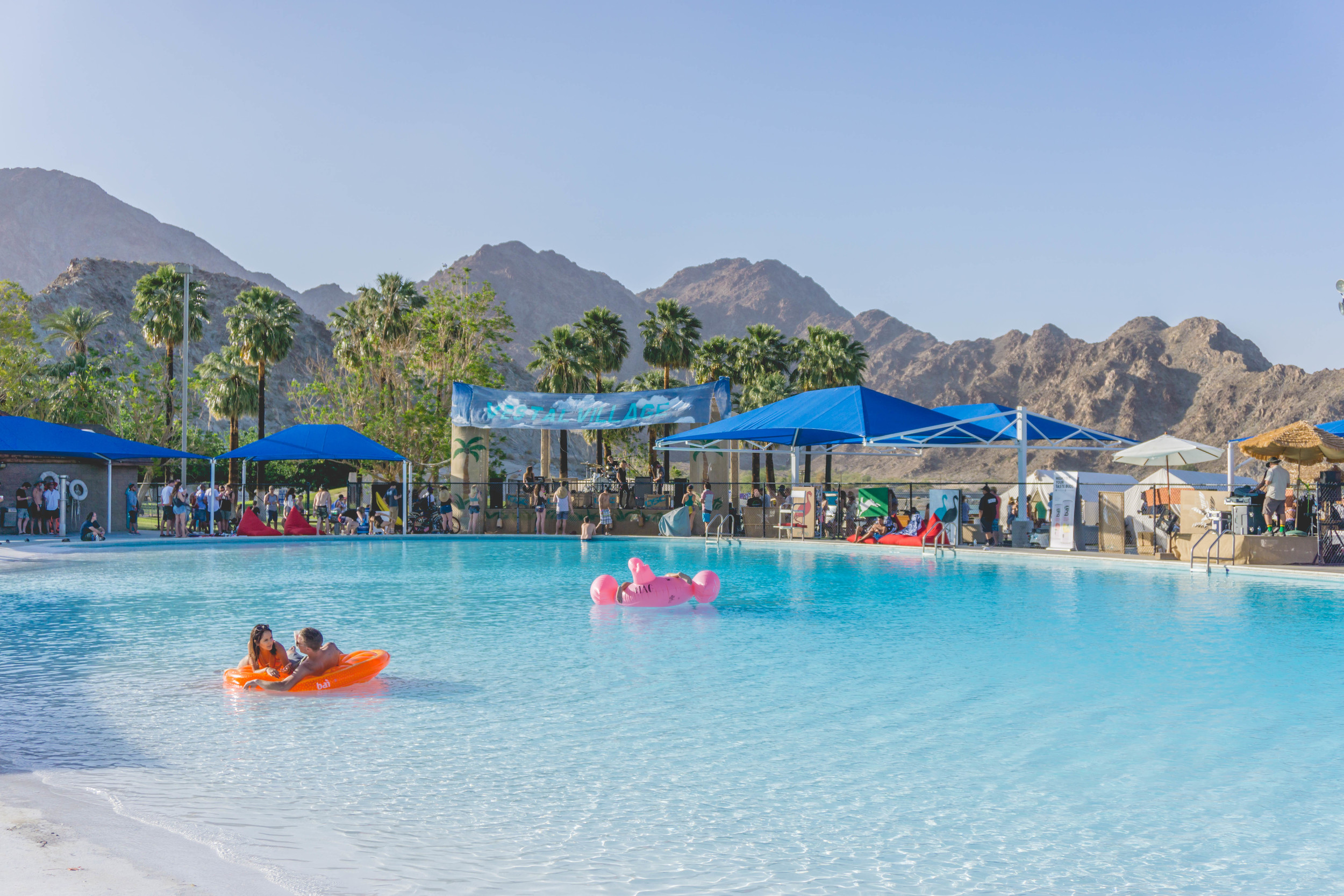 Coachella attendees abandoned their private lagoon around 4PM