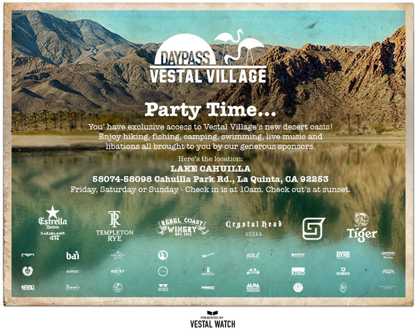 Just look at all of the alcohol sponsors!Vestal Village is definitely the place to camp if you plan on partying on a budget. However, you have to be invited or know someone in the industry to gain access to these perks.  Arriving at Vestal Village, I knew that it was gonna be much better when valet girls welcomed each car with a specialty drink of choice. We all enjoyed the perks while it lasted. Sadly, we spent too much time at Base Camp than expected which cut our time short at the village.