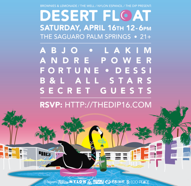 The Desert Float party in my opinion was the spot where attendees just went to just have a weekend getaway or just didn't know/couldn't get into other parties. This was the only event that didn't have sponsored alcohol, however, they did have and endless supply of Vita Coco coconut water. You best believe that I loaded up on hella electrolytes before heading to my final non-chella event.